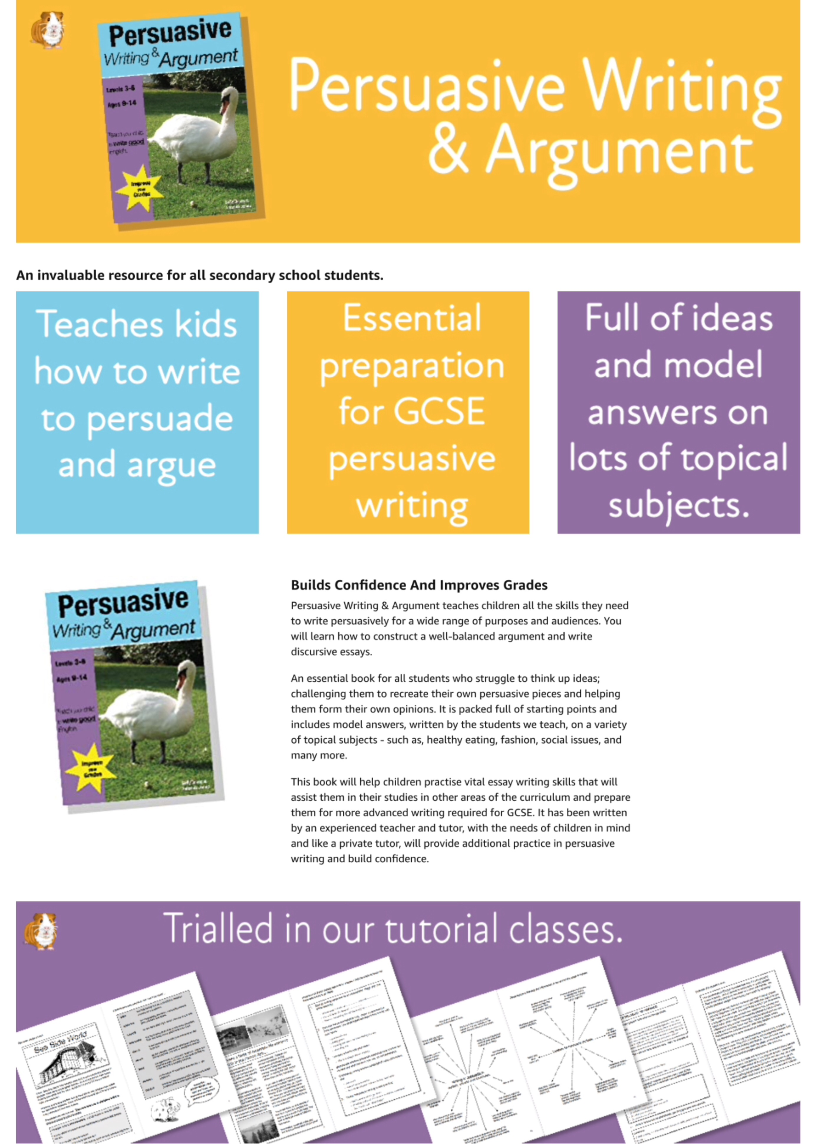 Learning Persuasive Writing And Argument (9-14 years) Digital Download