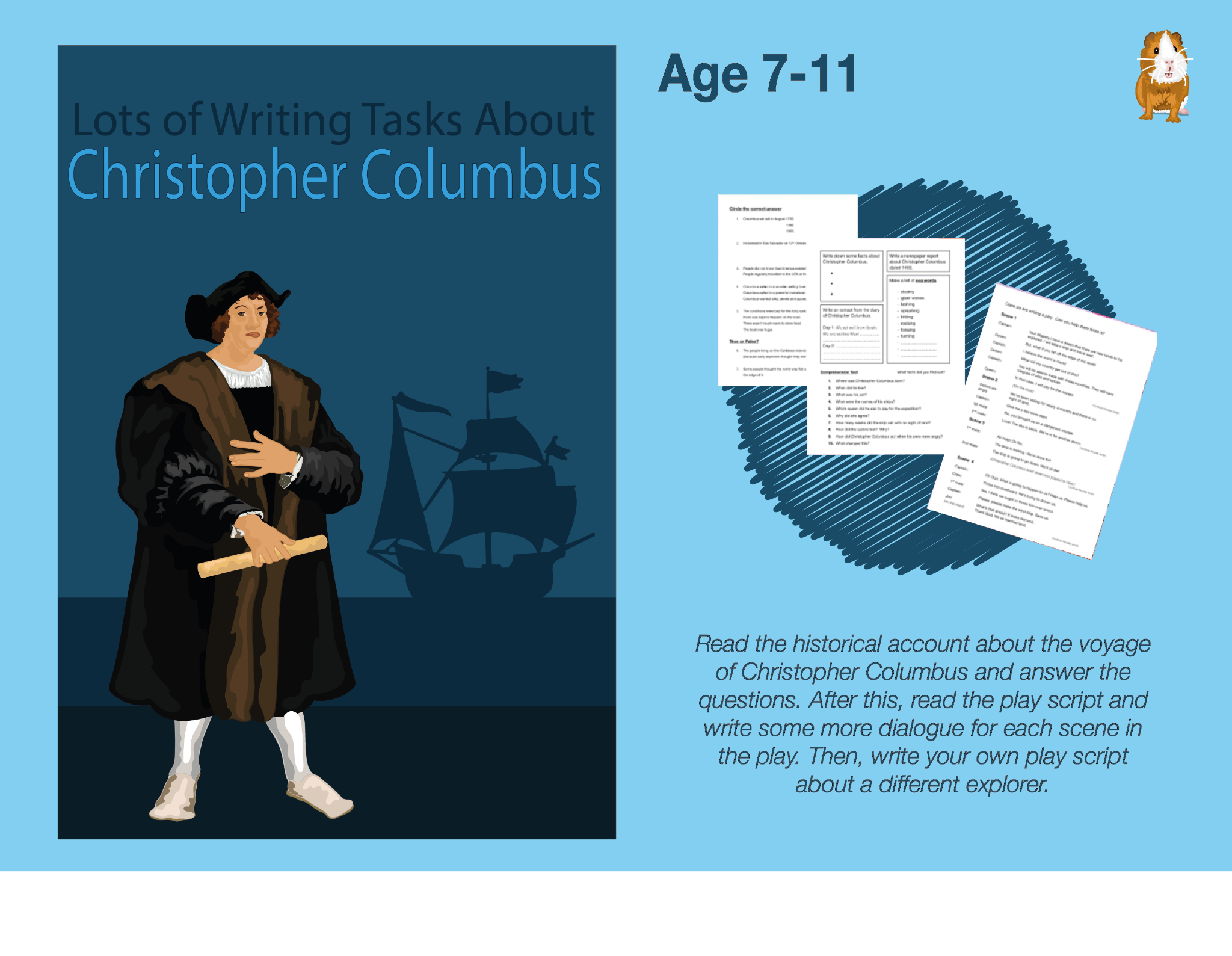 Lots Of Writing Tasks About Christopher Columbus (7-11 years)