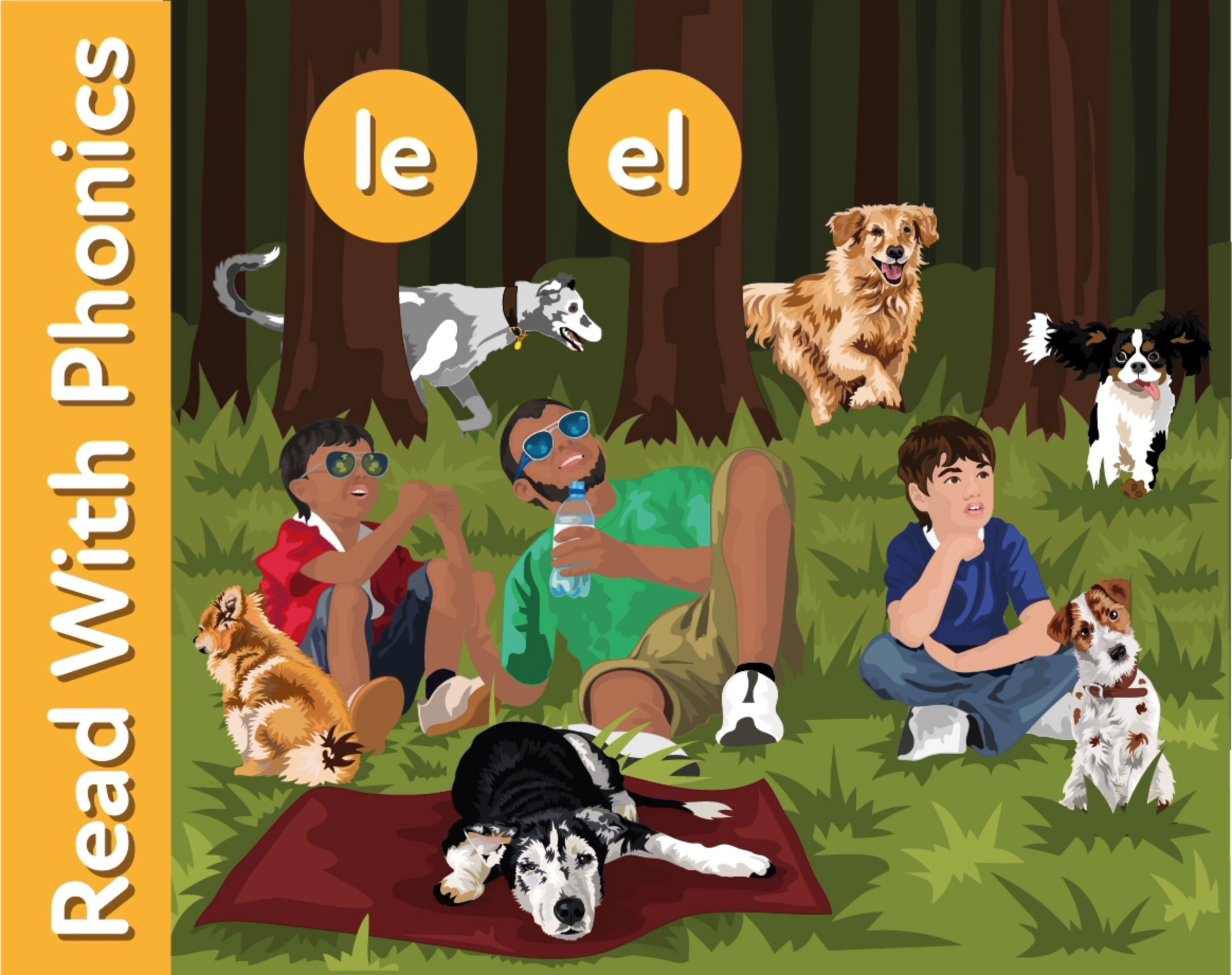 Walking The Dogs: Learn Words Ending In 'le' and 'el'