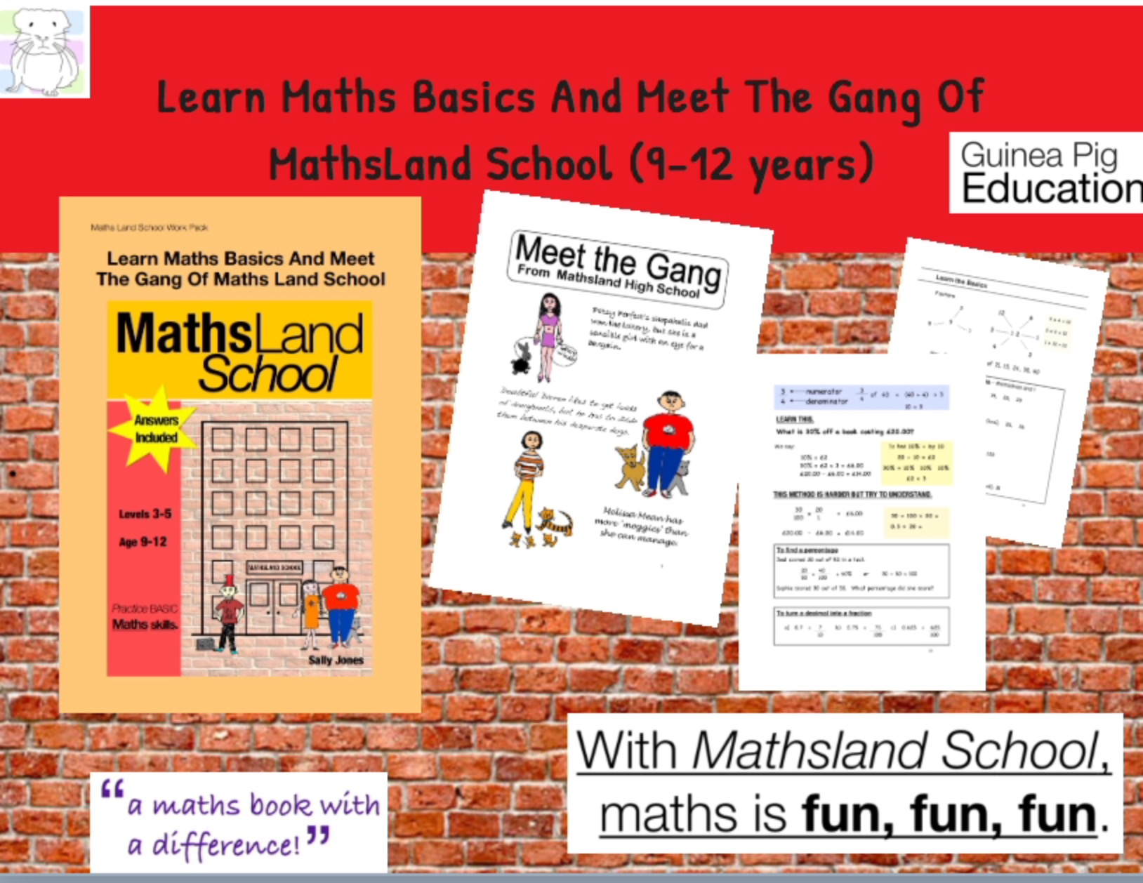 Learn Maths Basics And Meet The Gang Of MathsLand School (9-12 years)