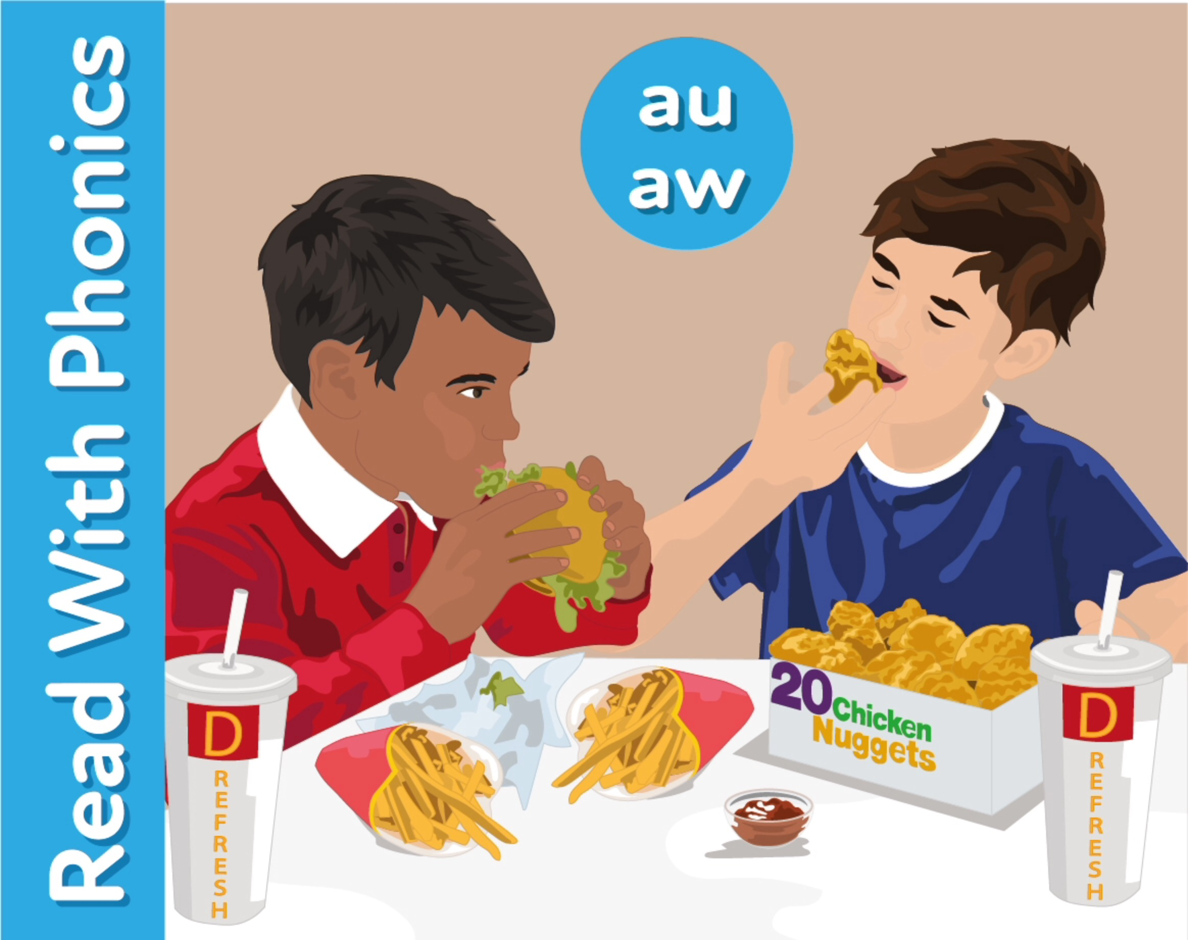 Donald's: Learn The Phonic Sounds 'au' and 'aw'