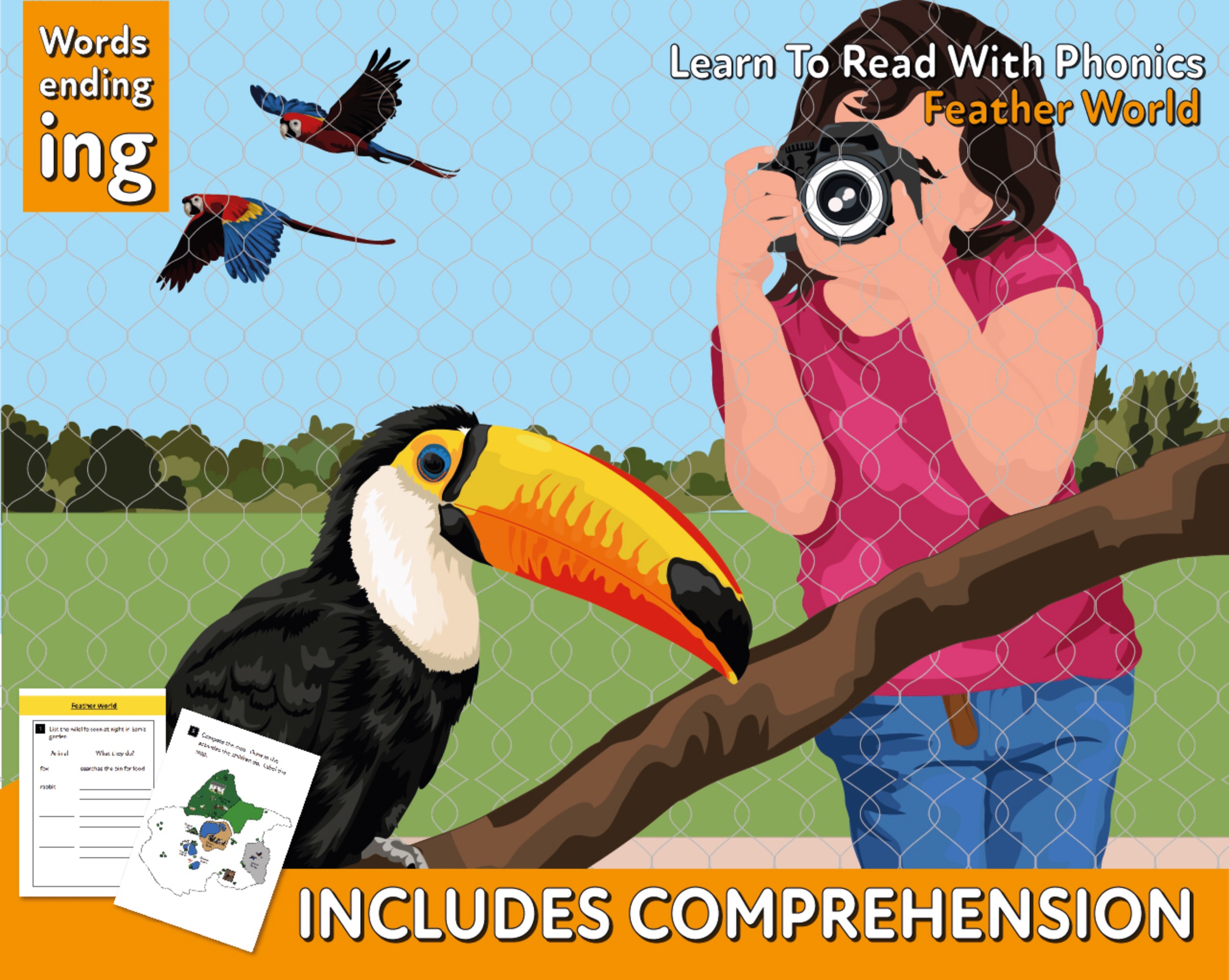 Reading Comprehension 'Feather World' (4-8 years)