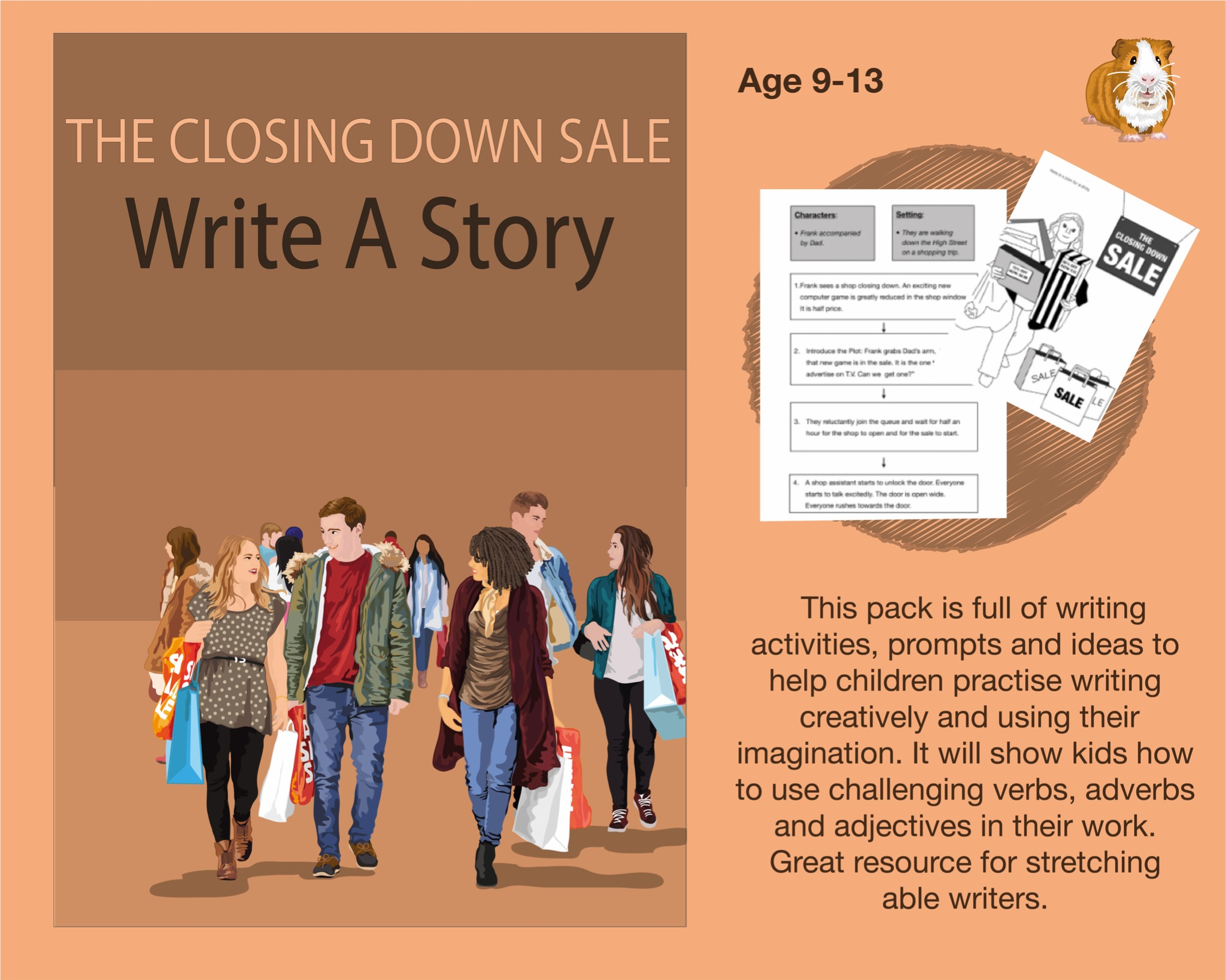 The Closing Down Sale: Write A Story (SATS And 11+ Essential Writing Practice) (9-13 years)