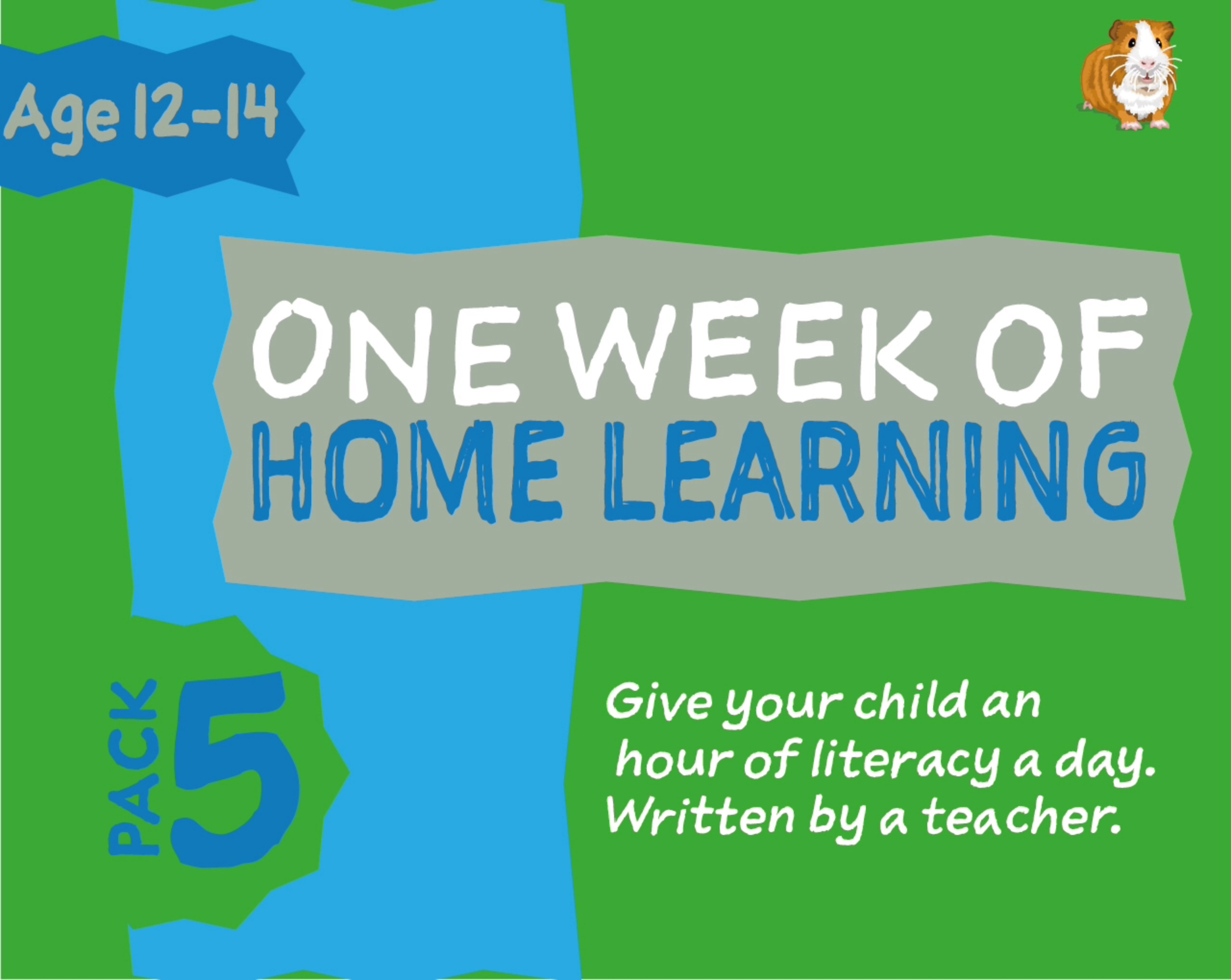 1 WEEK Literacy Distance Learning: Pack FIVE (age 12-14 years) Grades 6-8
