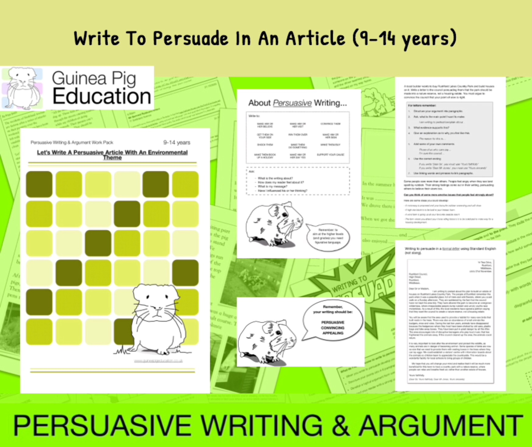 How To Write A Persuasive Article (with an environmental theme) (9-14 years)