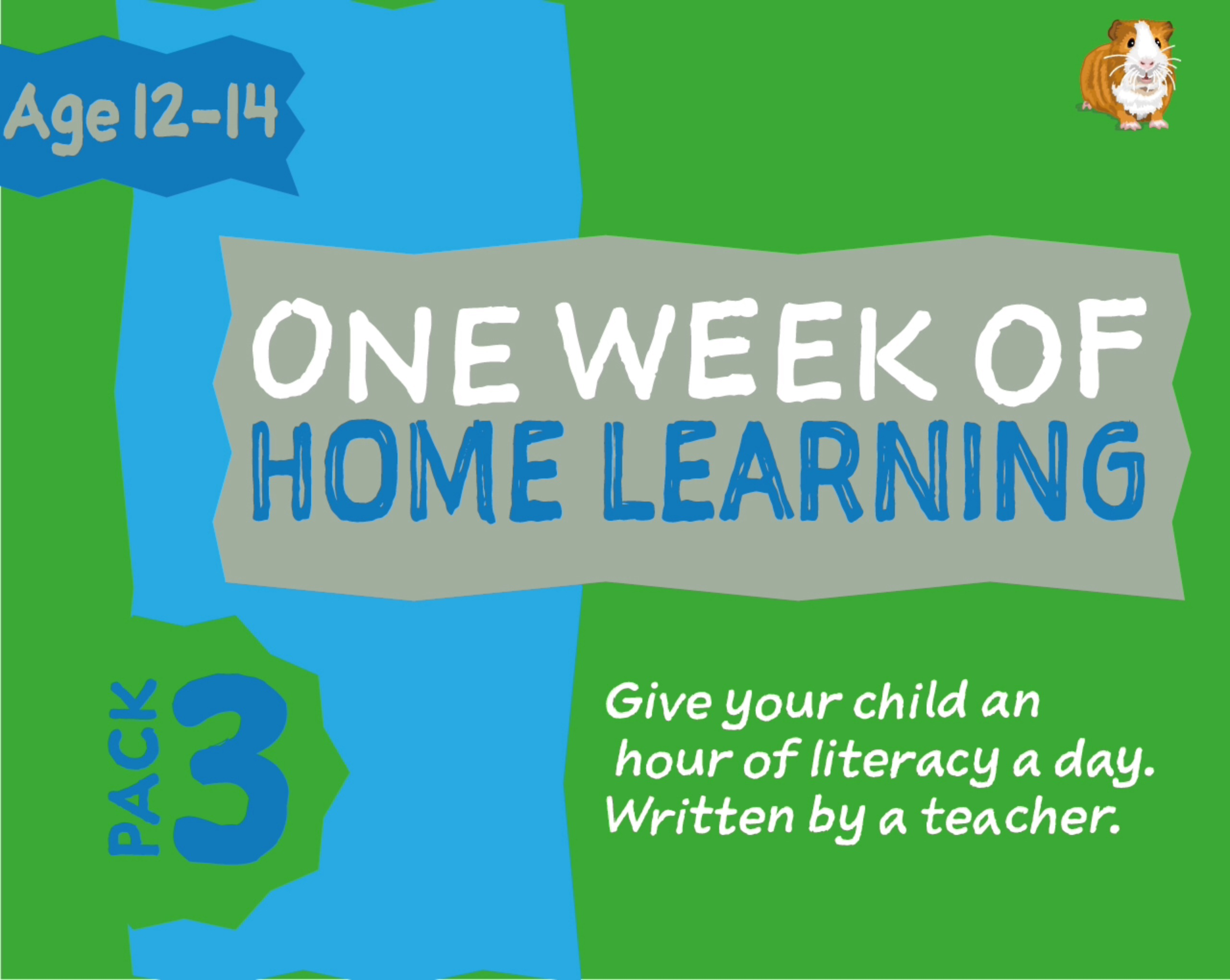 1 WEEK Literacy Distance Learning: Pack THREE (age 12-14 years) Grades 6-8