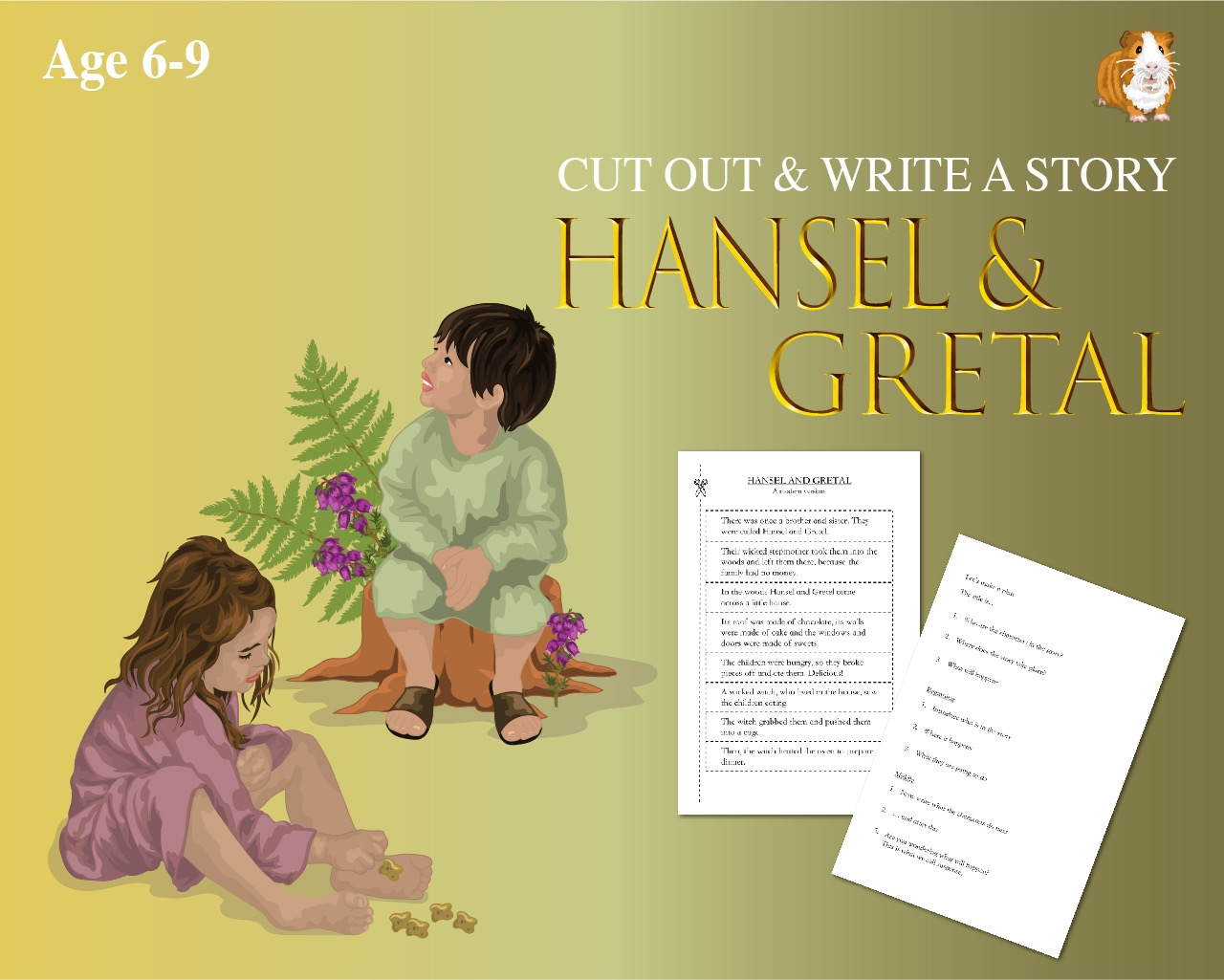 Cut Out And Write The Story Of 'Hansel And Gretal' (6-9 years)