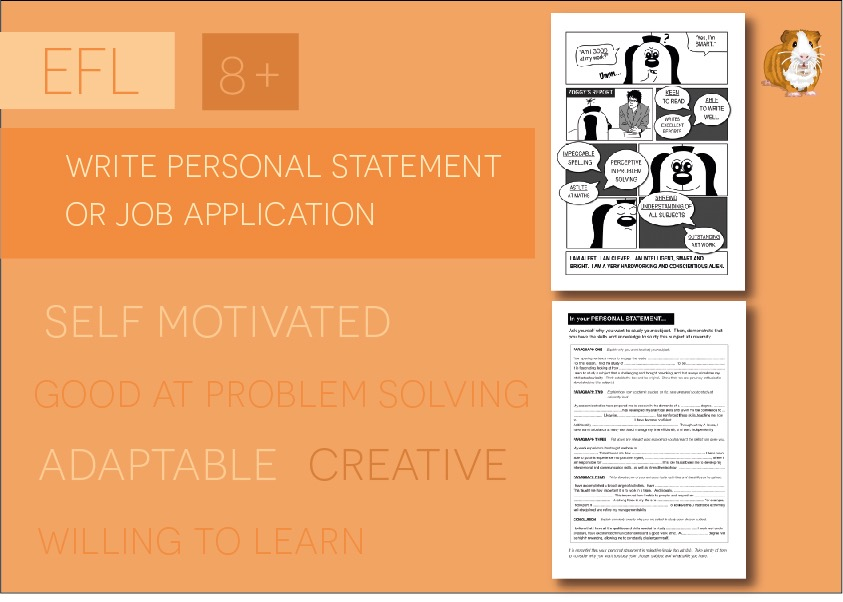 Writing A Personal Statement Or Job Application (8+)
