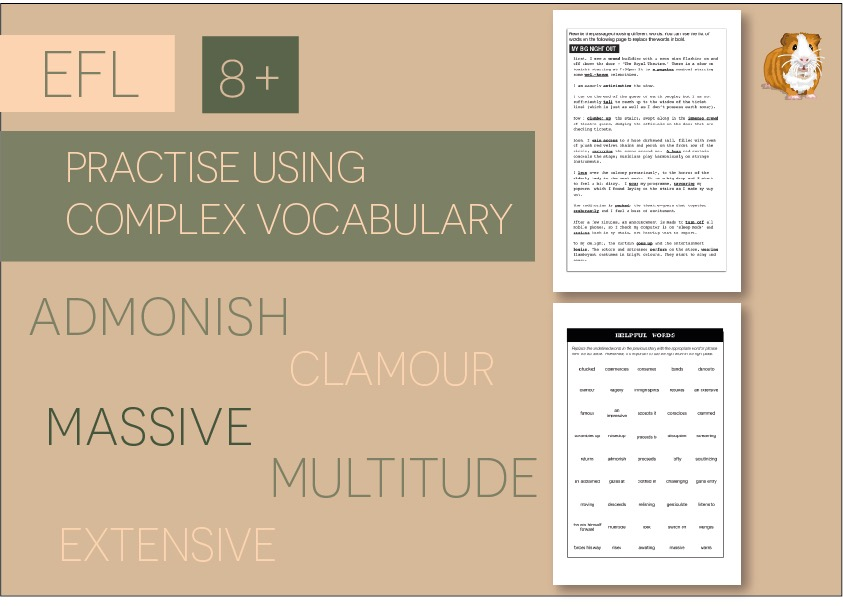 Practise Using Complex Vocabulary: Zoggy's Big Night Out (8+)