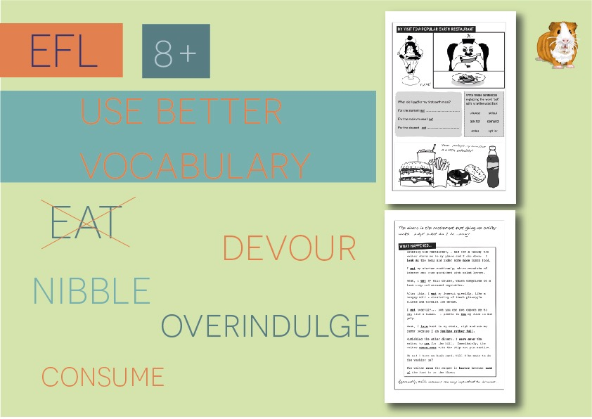 Use Better Vocabulary In Your Writing: Replace The Word Eat  (8+)