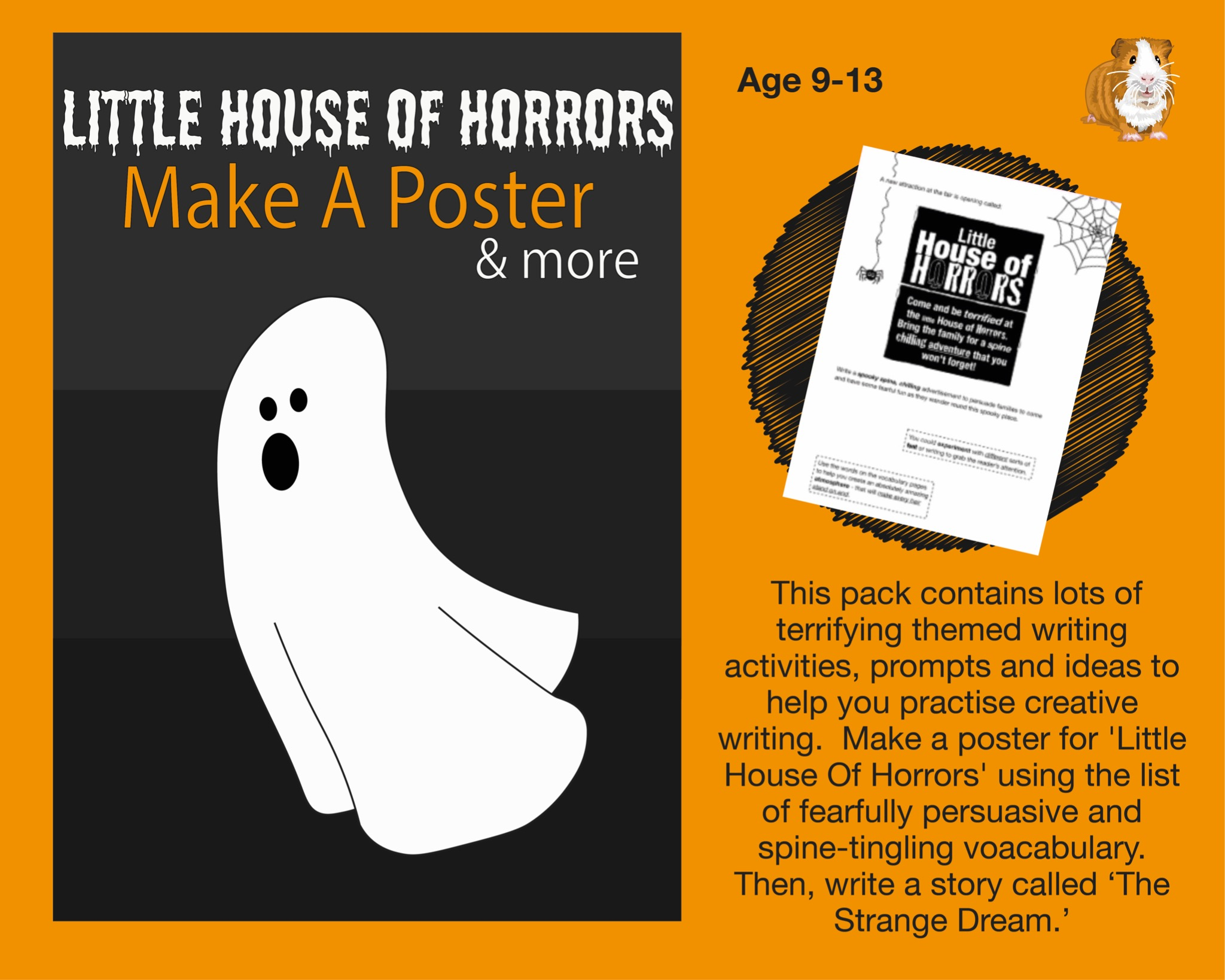 Little House Of Horrors: Make A Poster (And More) (SATS And 11+ Essential Writing Practice) (9-13)