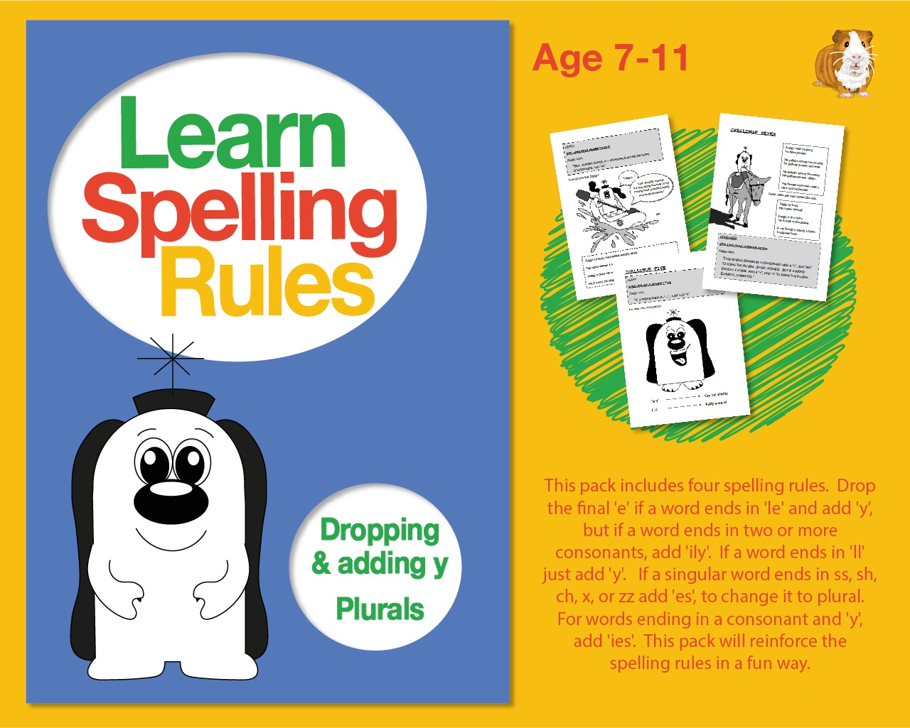 Learn Spelling Rules: Dropping And Adding 'y' And Plurals (7-11 years)
