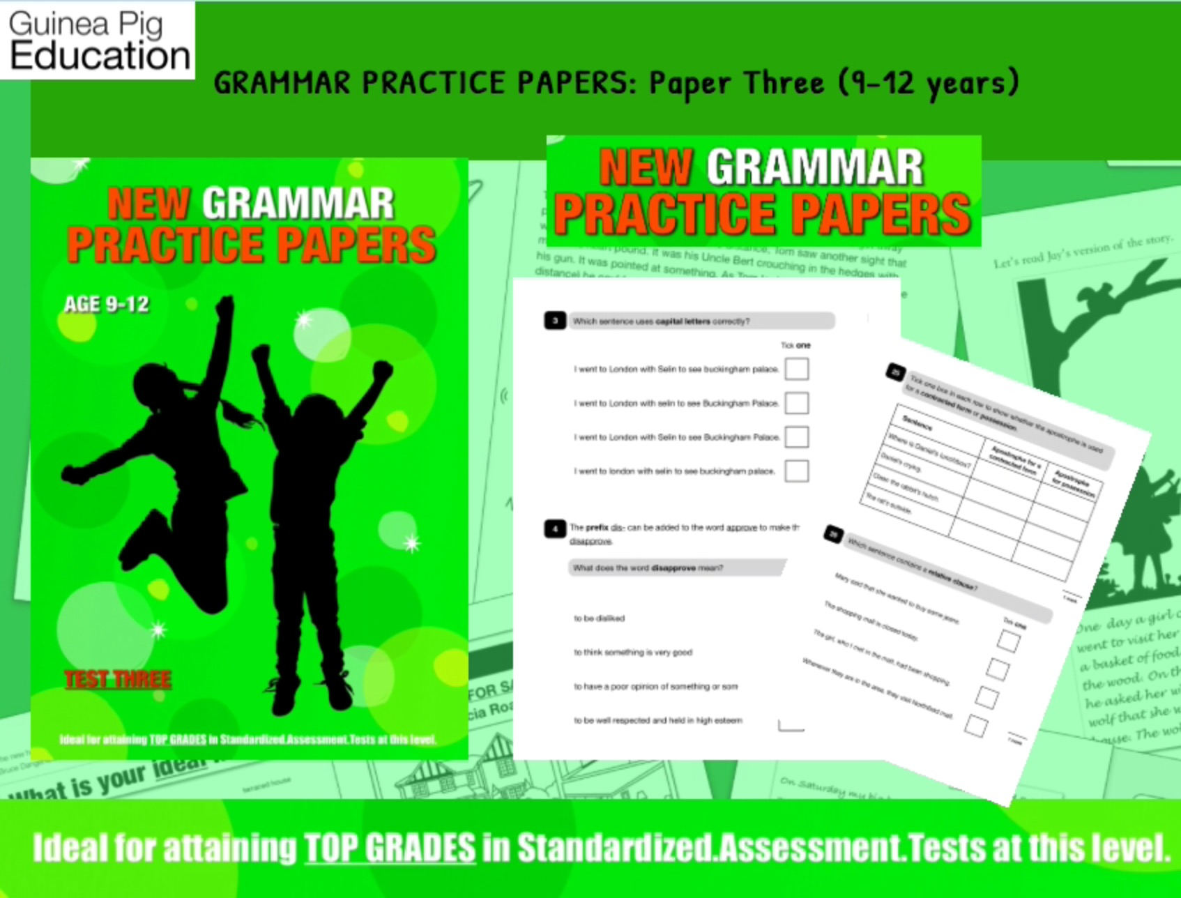 Let's Practice Grammar For SATS (Pack 3) 9-12 years
