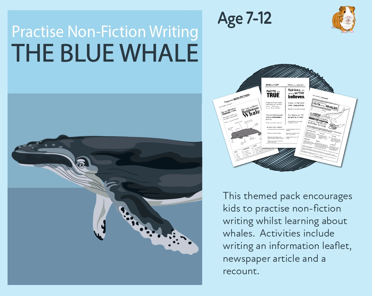 Practise Non Fiction Writing: The Blue Whale  (7-13 years)