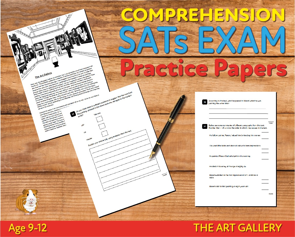 SATS Comprehension Tests (The Art Gallery) 9-12 years Digital Download