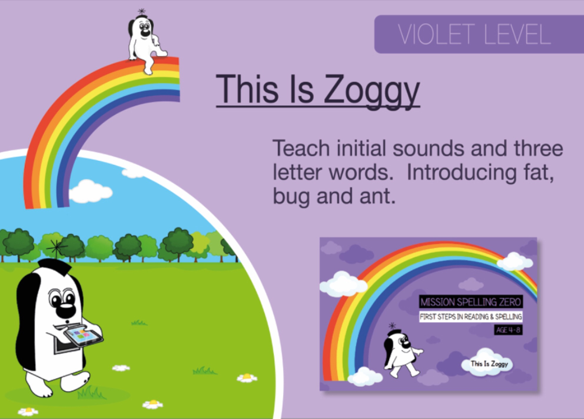 Initial Sounds & Three Letter Words: This Is Zoggy (Print Edition)