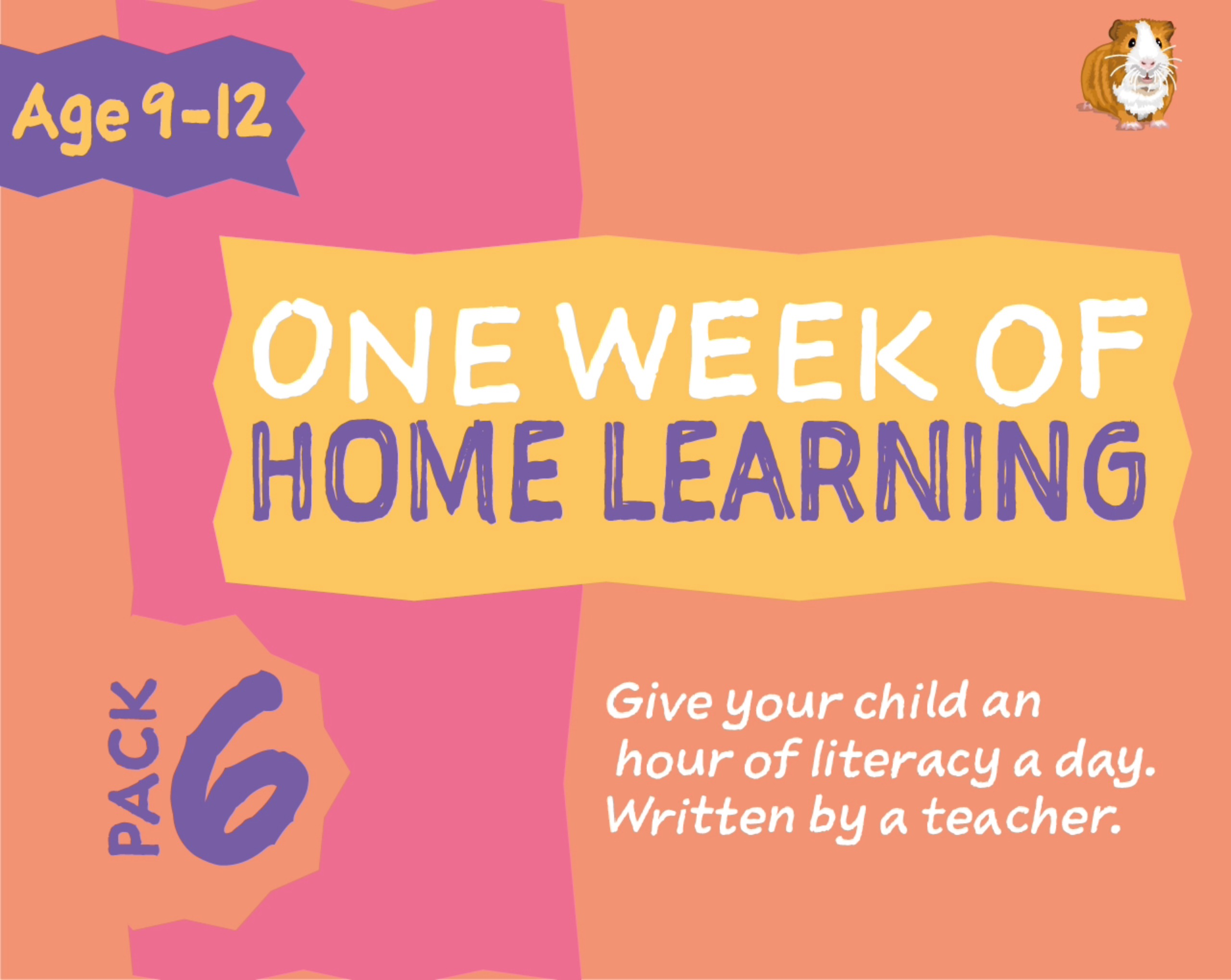 1 WEEK Literacy Distance Learning: Pack SIX (age 9-12 years) Grades 4-6