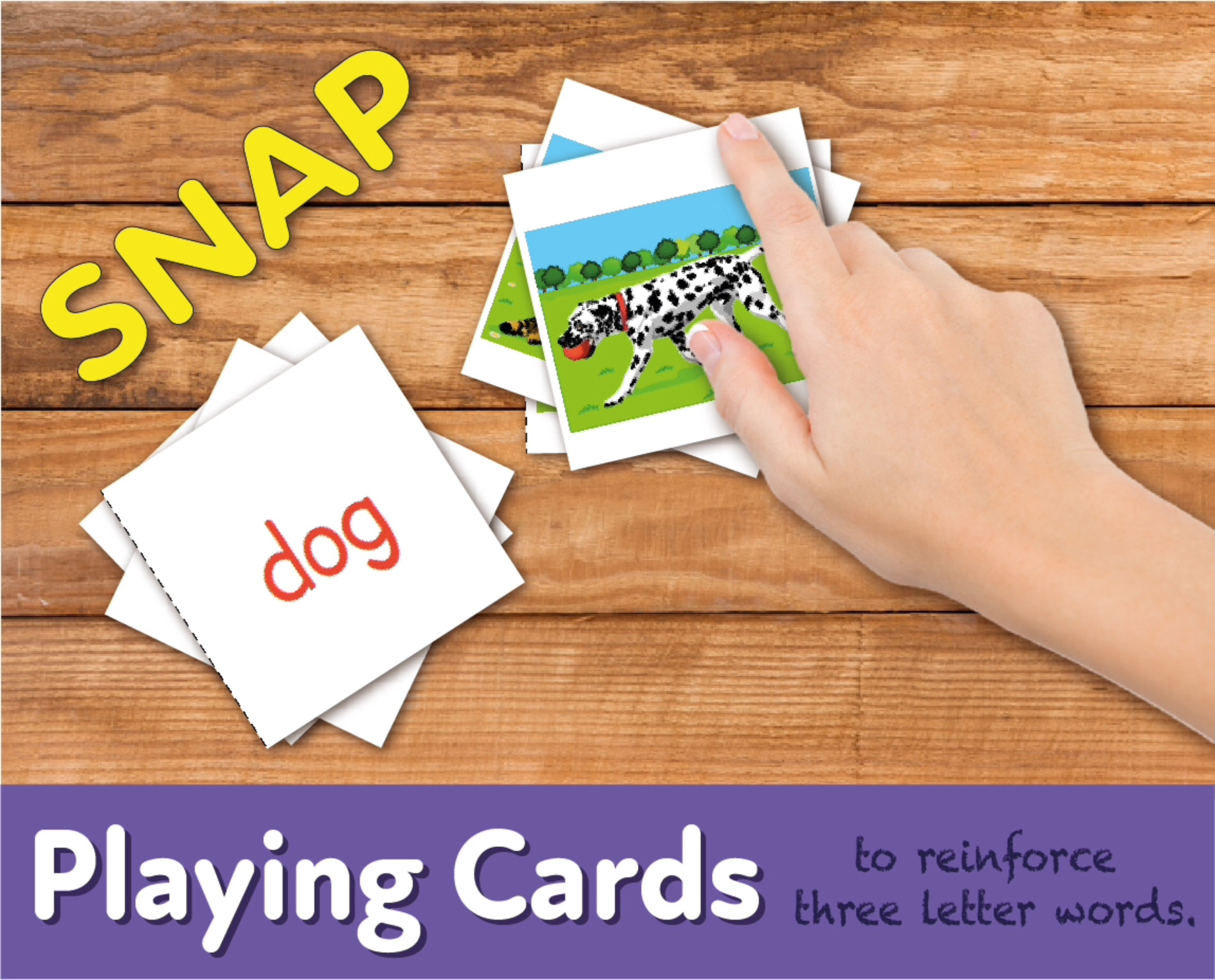 Playing Cards To Reinforce Three Letter Words (4-7 years)