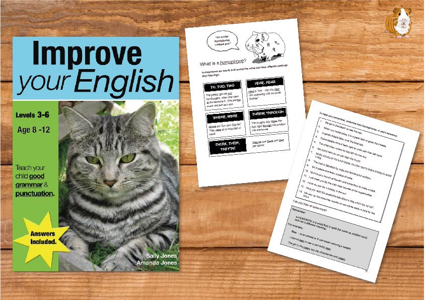Improve Your English (Teach Your Child Good Grammar And Punctuation) 8-12 years Print Book
