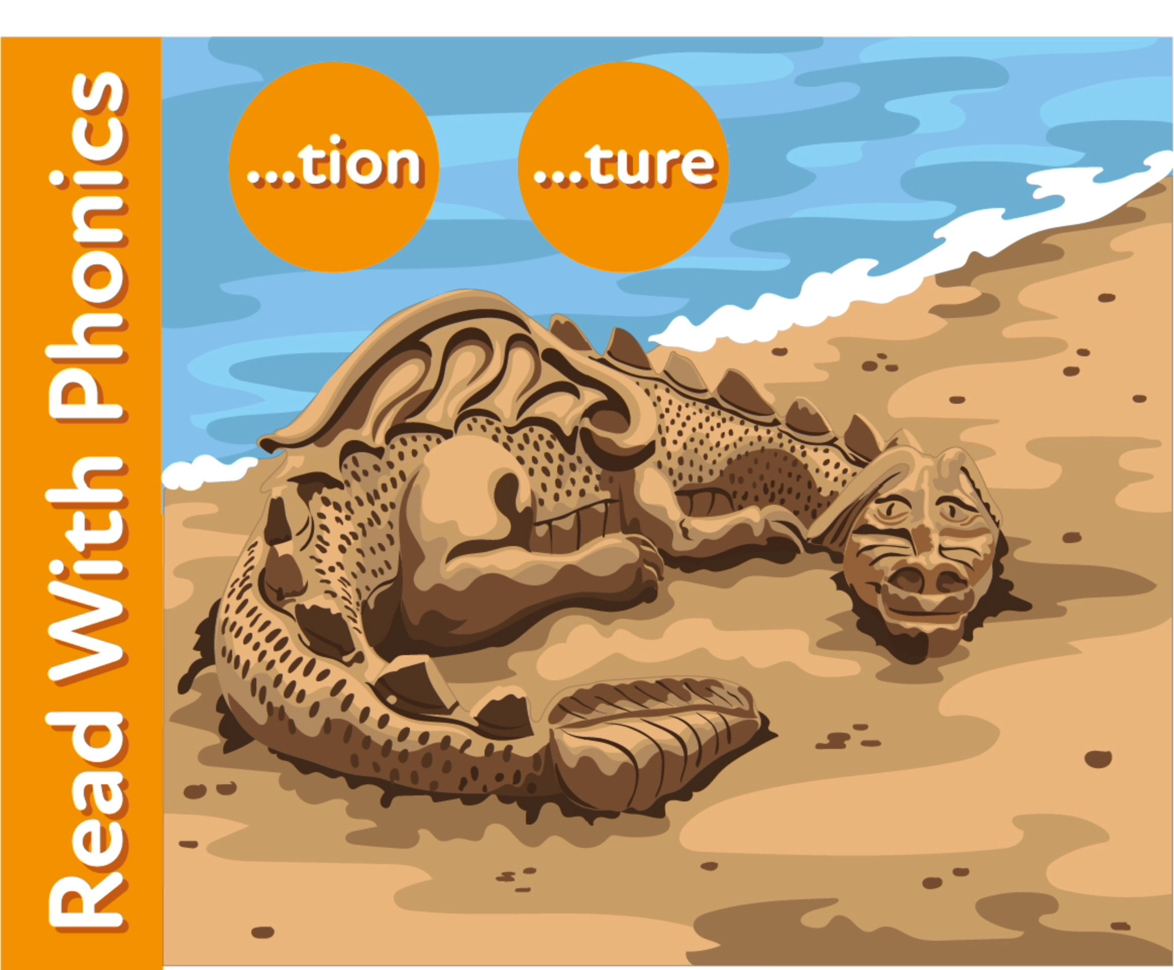The Sand Castle: Learn The Phonic sounds 'tion, ure And Silent Letters'