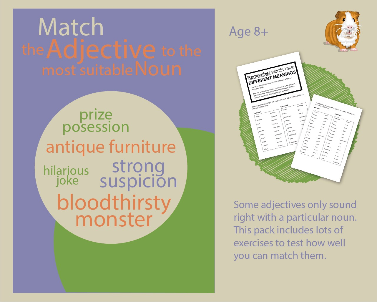 Test Yourself: Match The Adjective To The Most Suitable Noun  (8+)