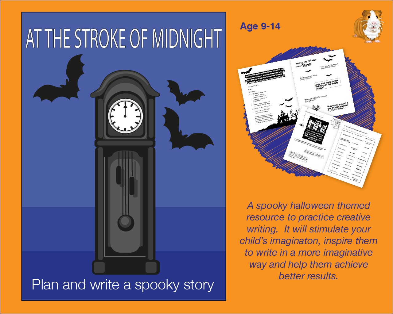 At The Stroke Of Midnight: Write A Spooky Story (And More) (SATS And 11+ Essential Writing Practice)