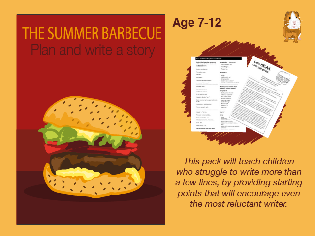 Write A Story Called 'The Summer Barbecue ' (7-11 years)