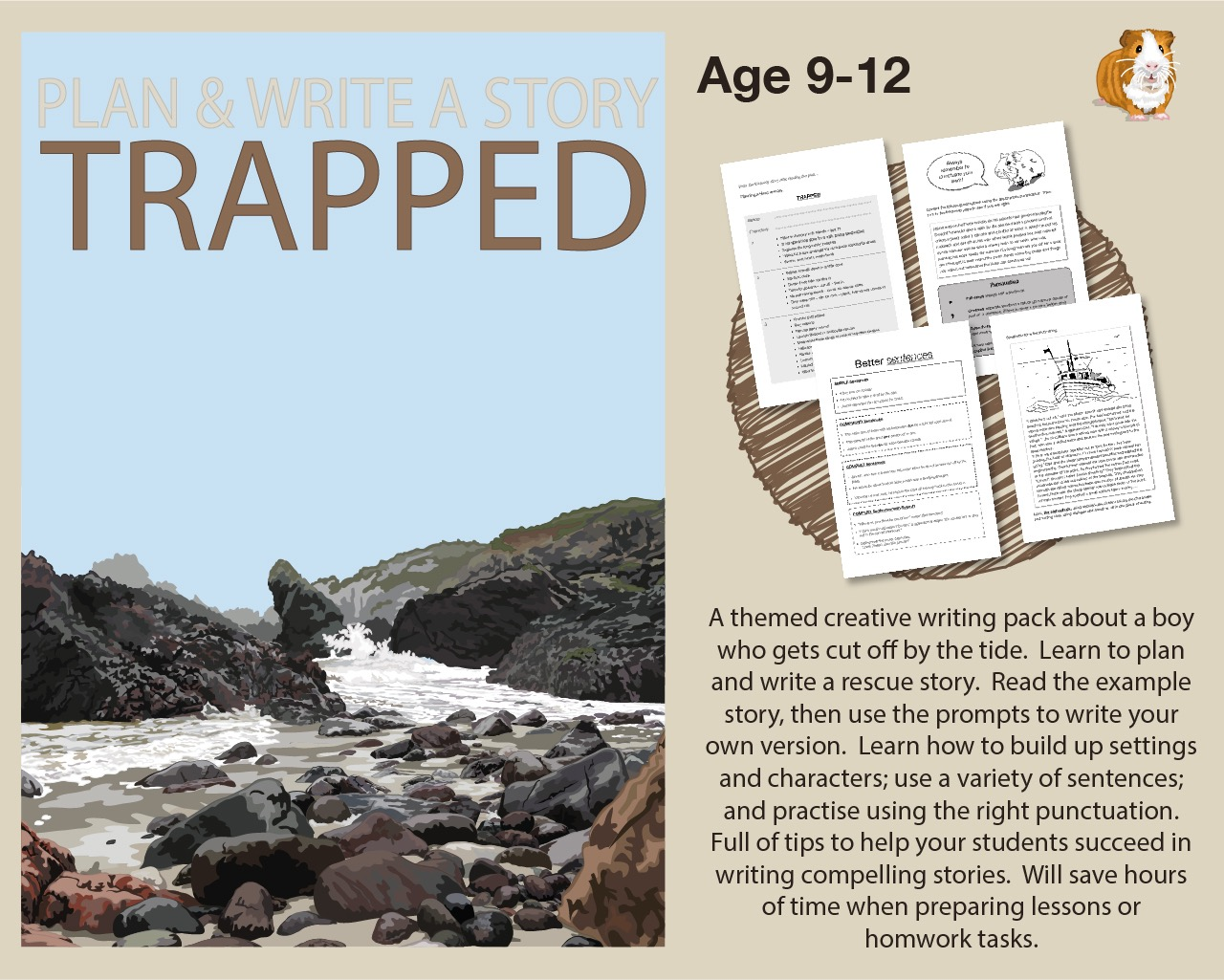 Plan And Write A Story Called 'Trapped' (9-14 years)