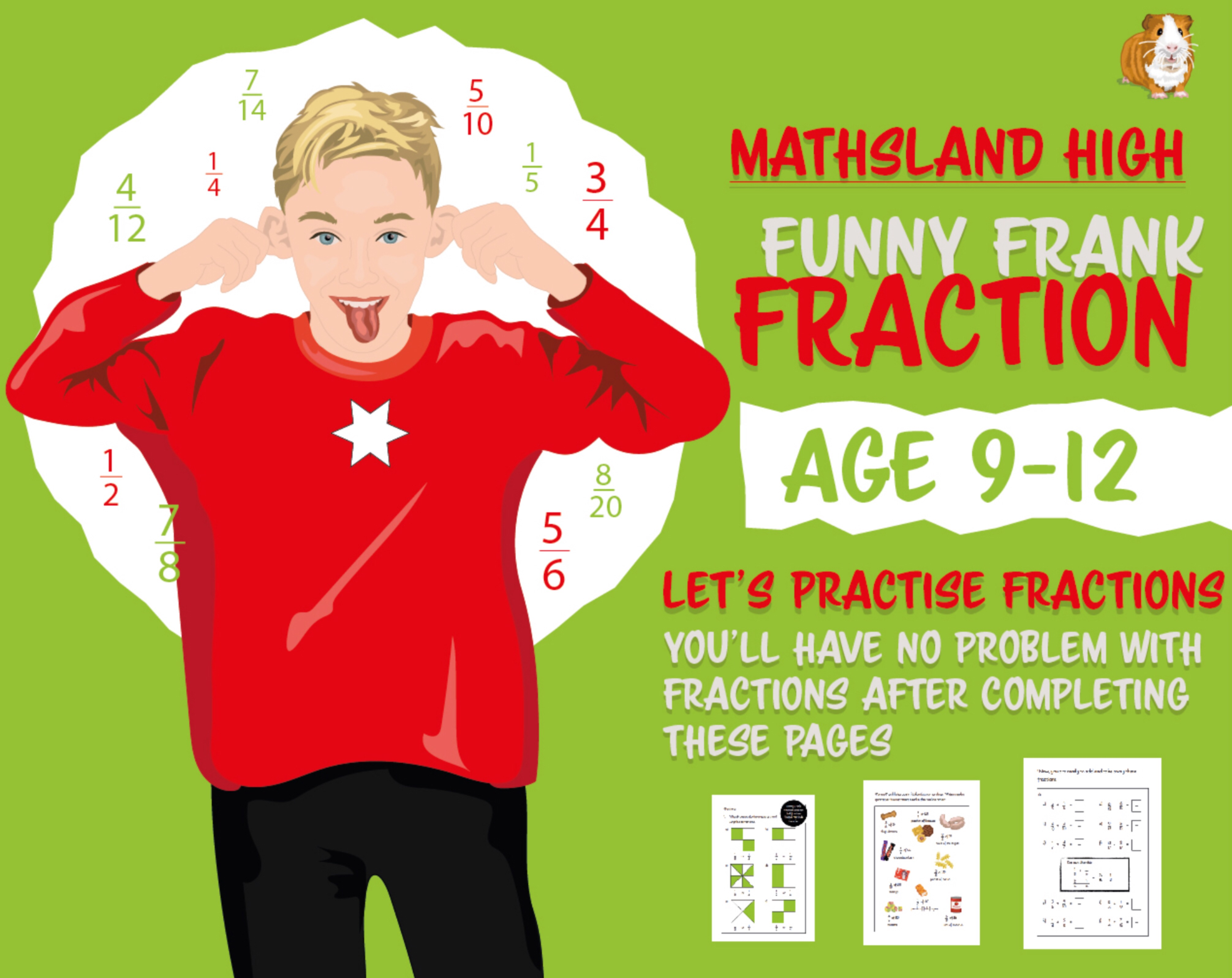 Fraction Practice Questions With Answers (Age 9-12)