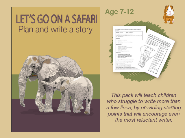 Write A Story Called 'Let's Go On A Safari' (7-11 years)