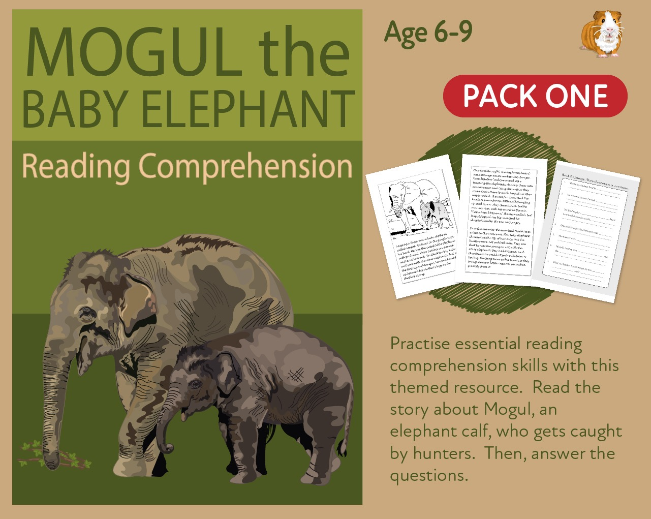 Let's Practise Our Reading Comprehension: Mogul The Baby Elephant: Part 1 (6-9 years)