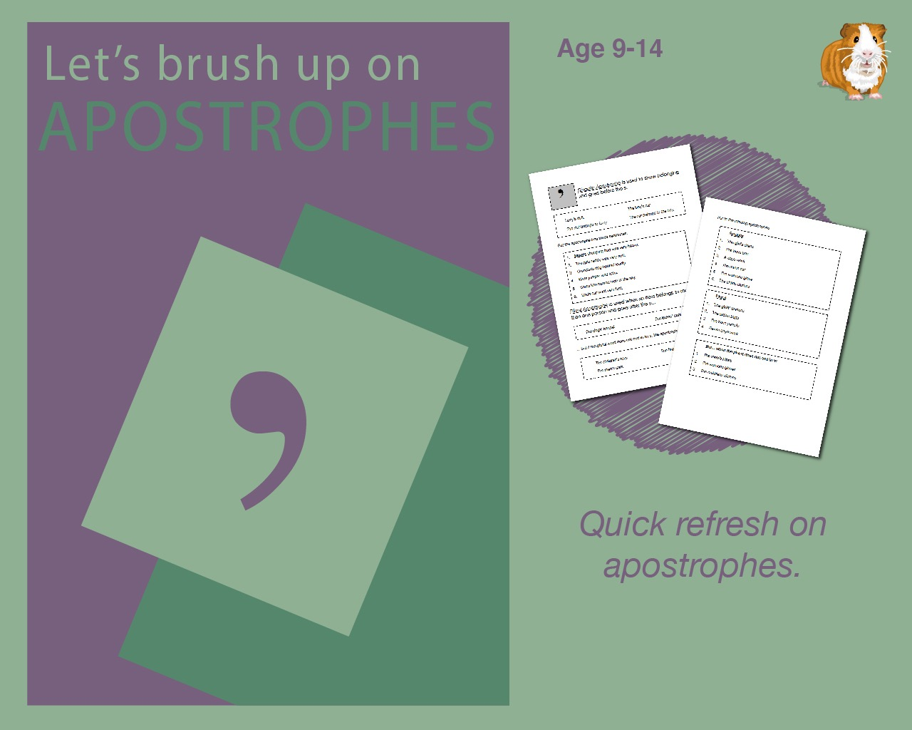 Using Apostrophes (9-14 years)