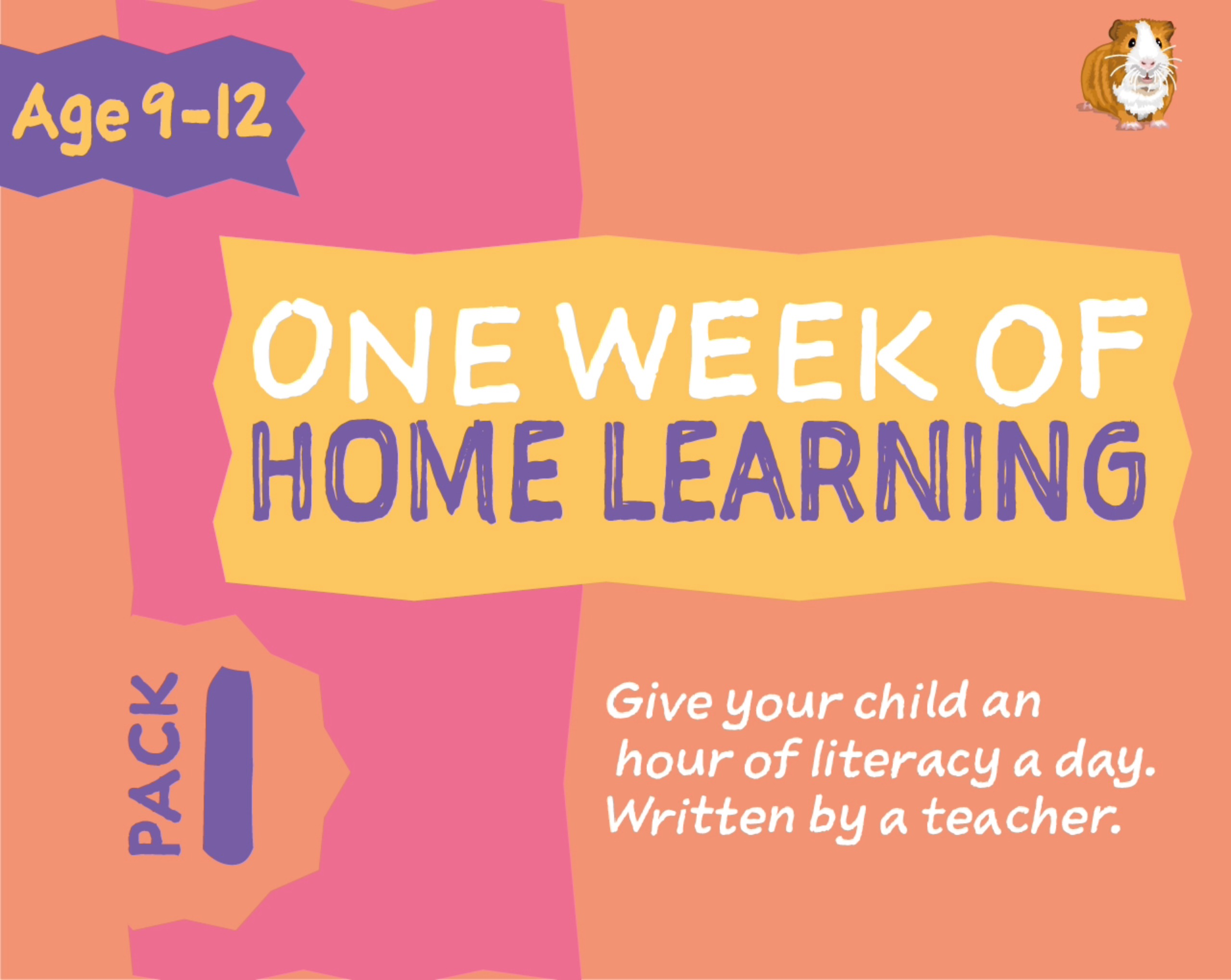 1 WEEK Literacy Distance Learning: Pack ONE (age 9-12 years) Grades 4-6