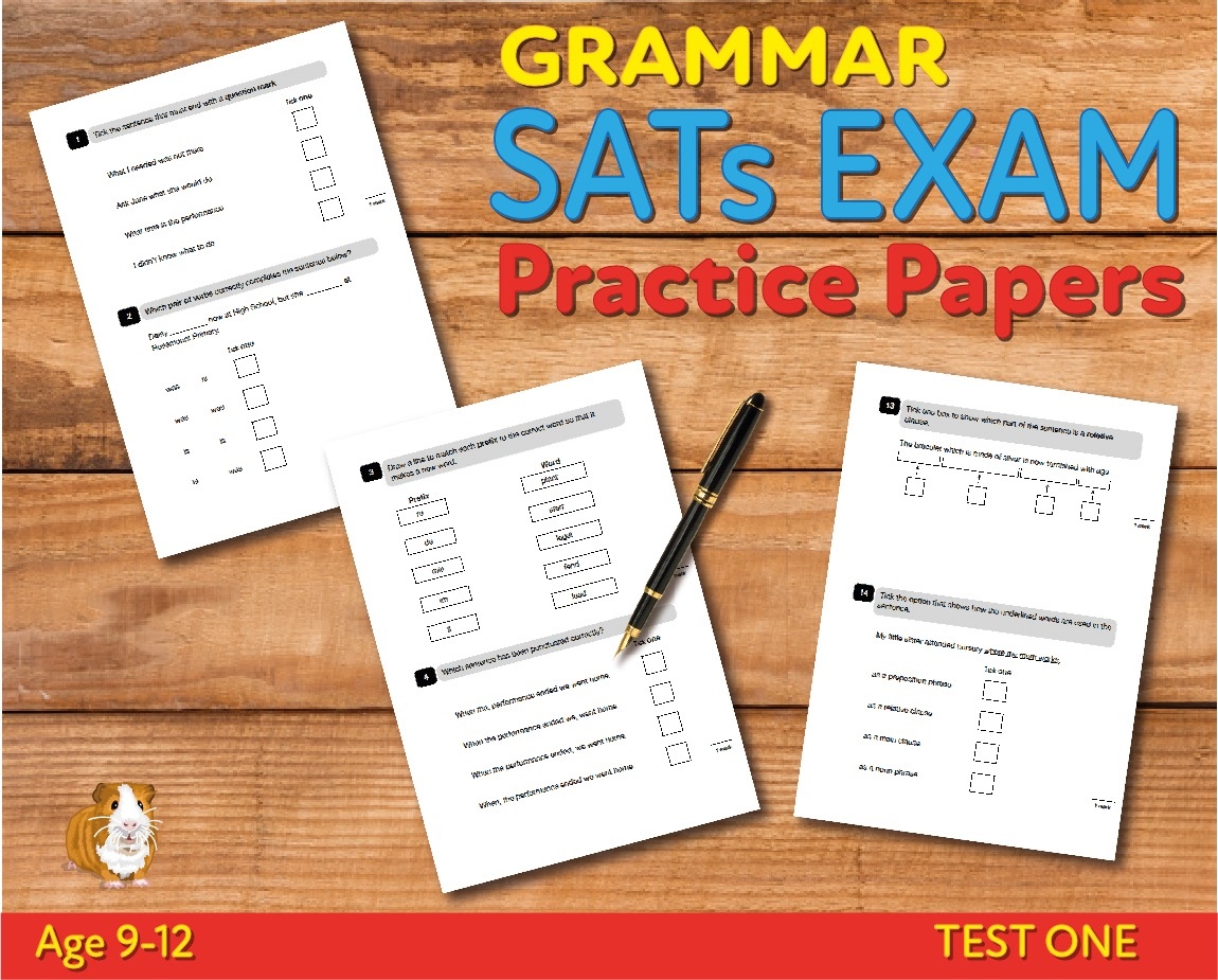 KS2 SATs Grammar, Punctuation & Vocabulary Practice Papers - Test 1 (Age 9-12)