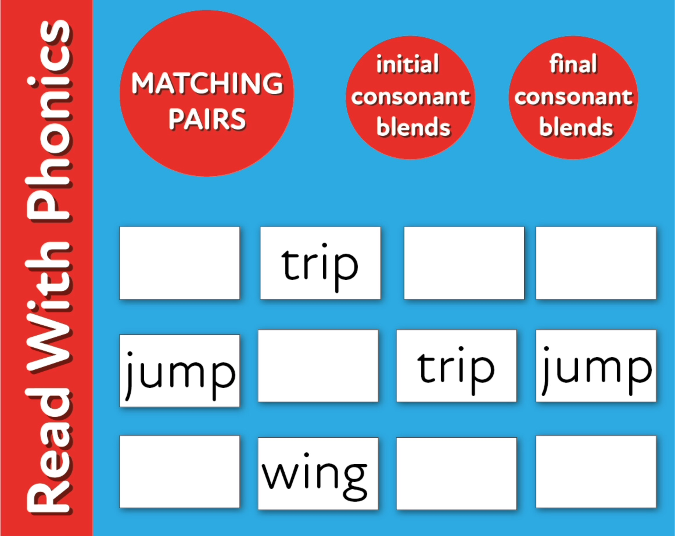 Play Initial & Final Consonant Blends Matching Pairs (3 +)