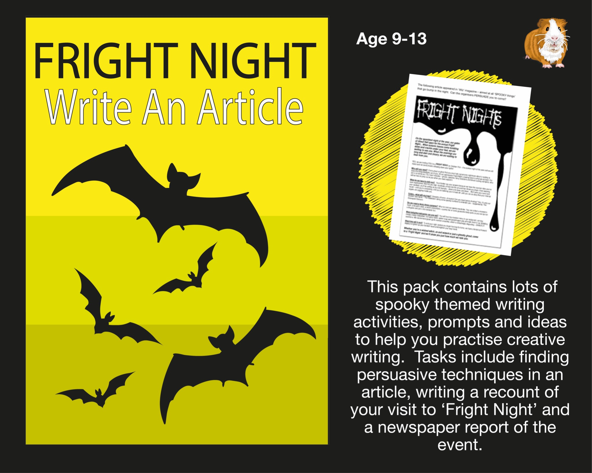 Fright Night: Write An Article (And More) (SATS And 11+ Essential Writing Practice) (9-13 years)