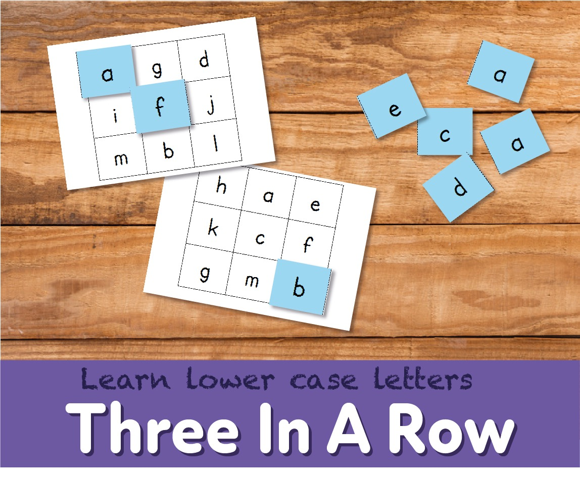 Play A Game Of Three In A Row With Lower Case Letters (4-7 years)