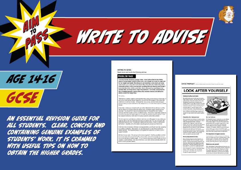 Write To Advise (Improve Your Grades At GCSE) (14-16 years)