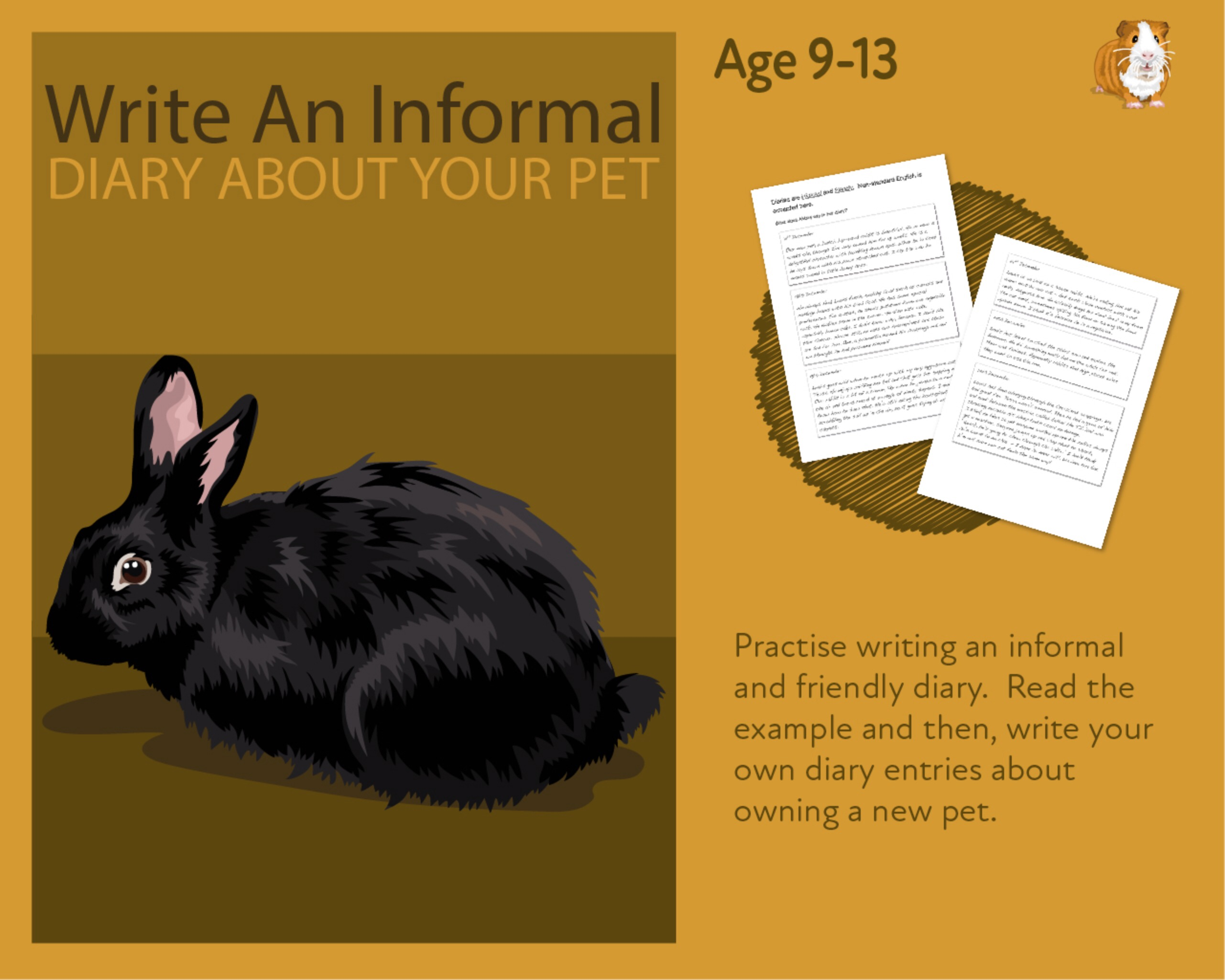 Practise Writing An Informal Diary On Your New Pet (9-14 years)