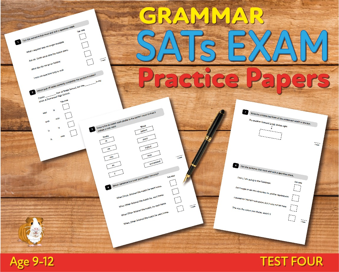 KS2 SATs Grammar, Punctuation & Vocabulary Practice Papers - Test 4 (Age 9-12)