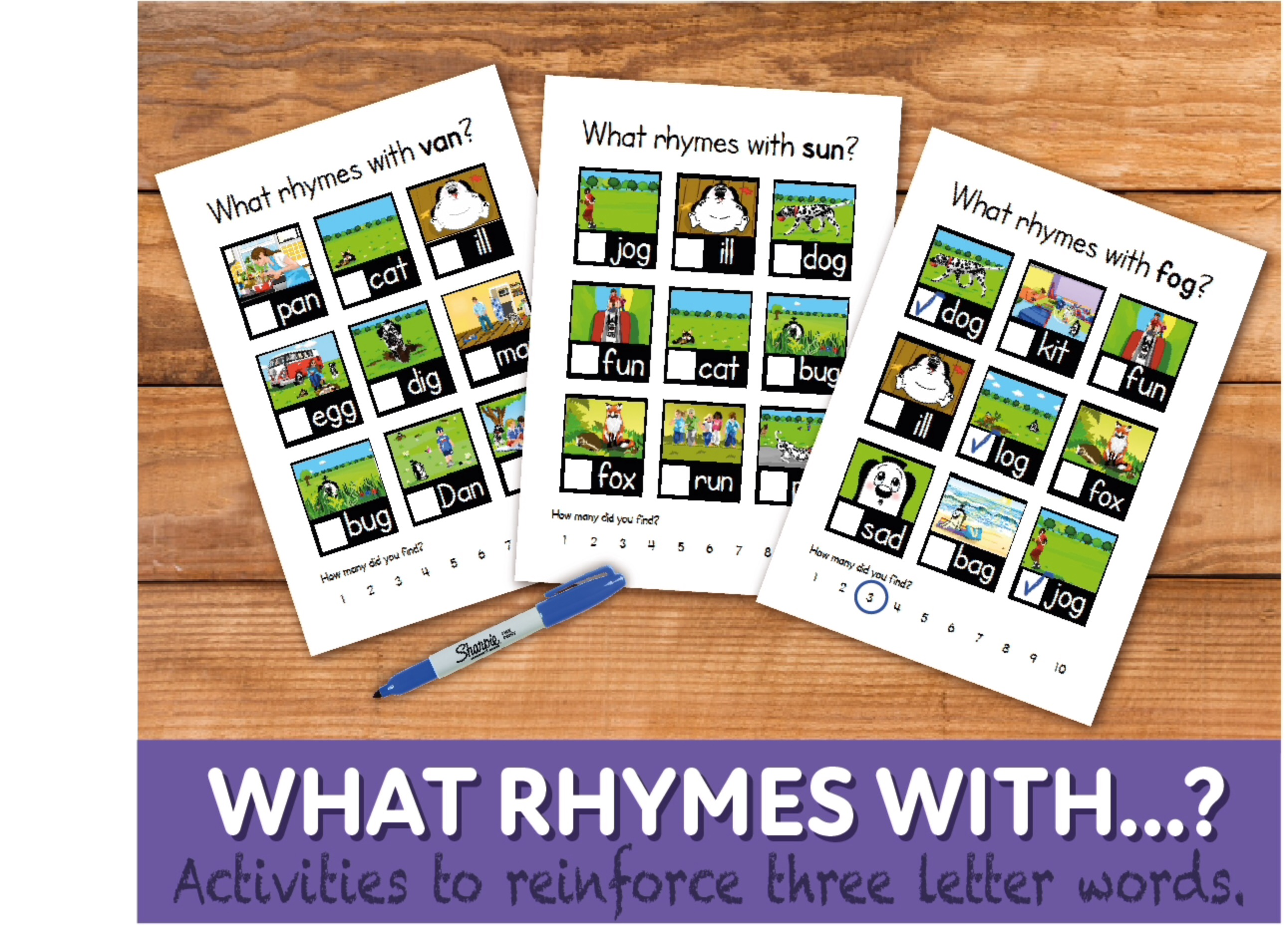 What Rhymes With? WORKSHEETS (4-7 years)