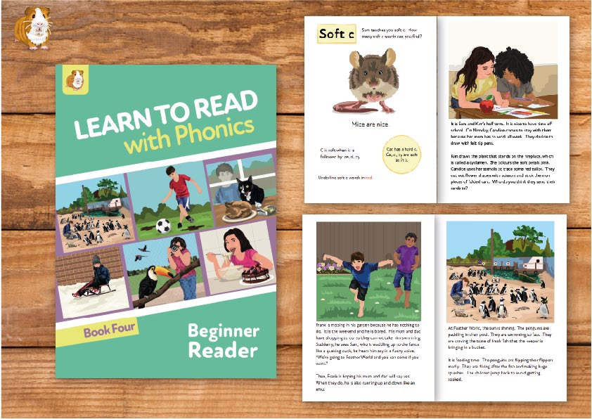 6. Learn to Read with Phonics | Beginner Reader Book 4 | Print Book