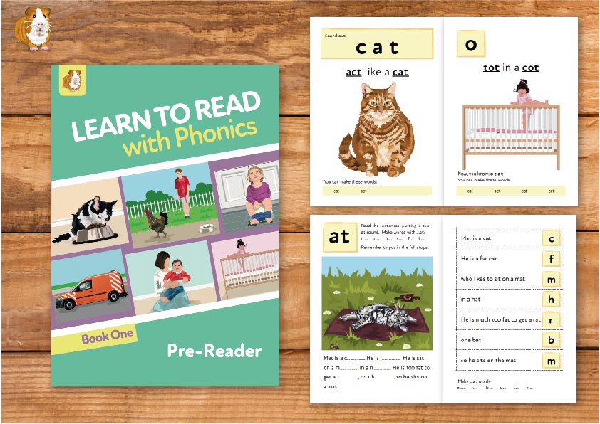 1. Learn to Read with Phonics | Pre-Reader Book 1 | Print Book