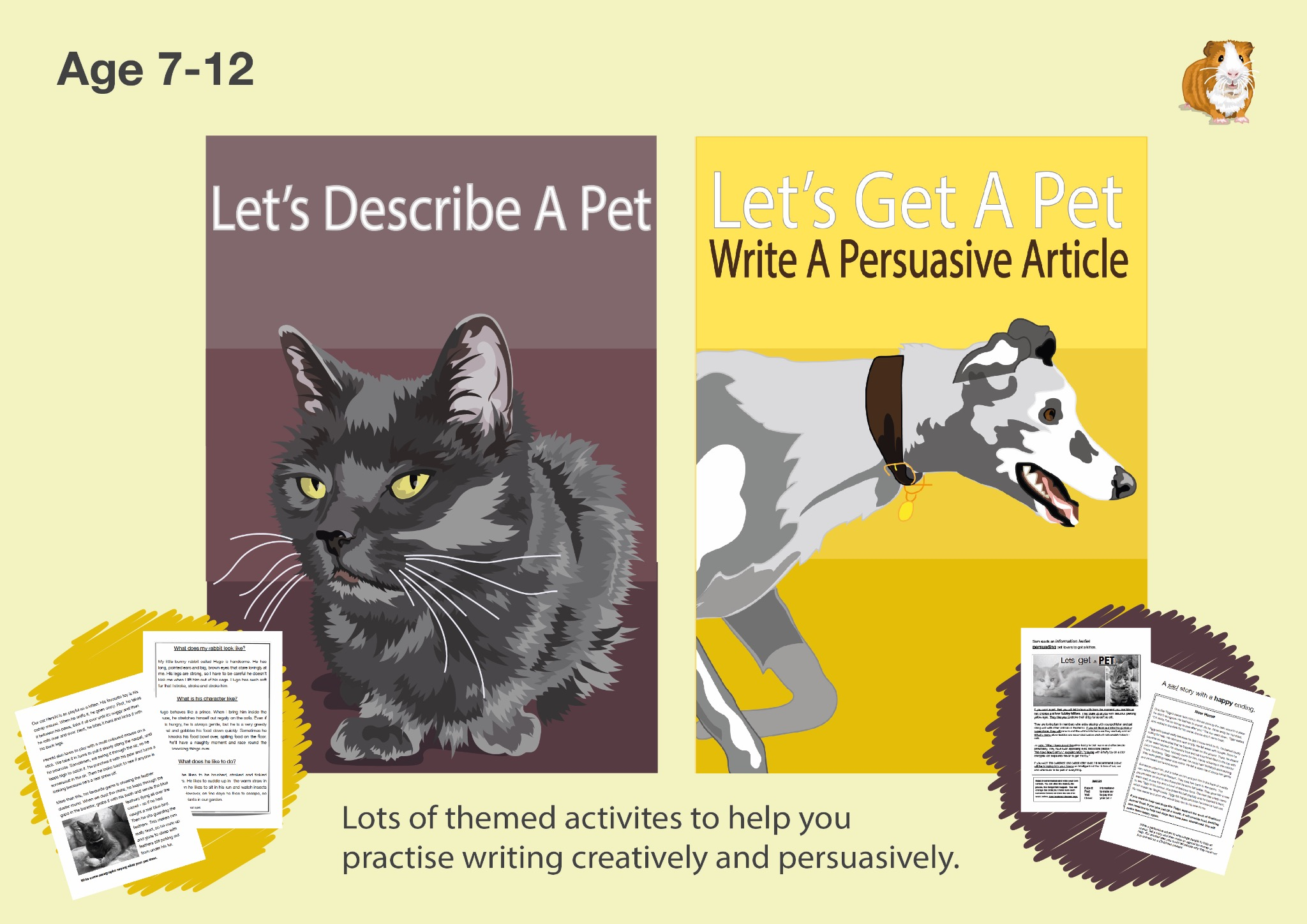 Pack 1: Lots Of Writing Tasks With An Animal Theme (7-12 years)