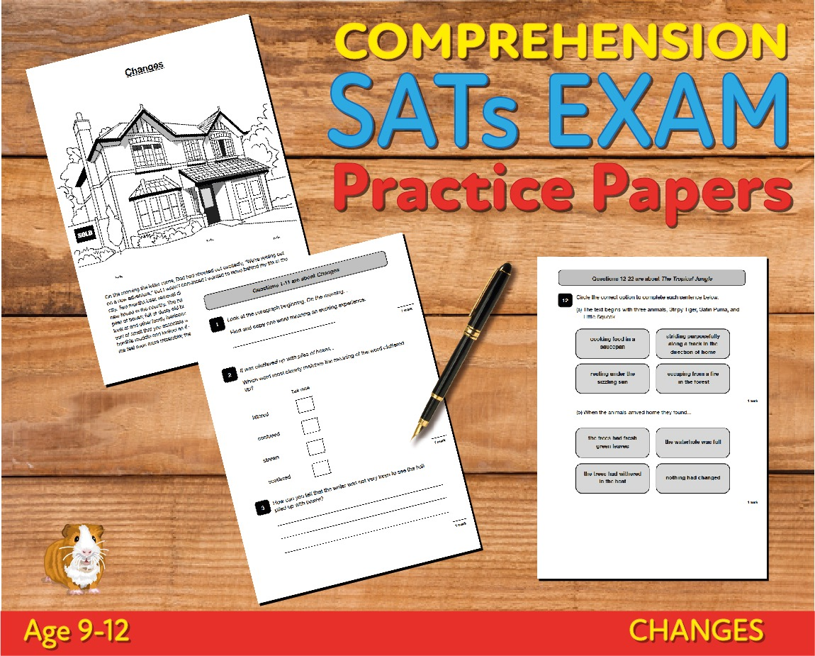 SATS Comprehension Tests (Changes) 9-12 years Digital Download