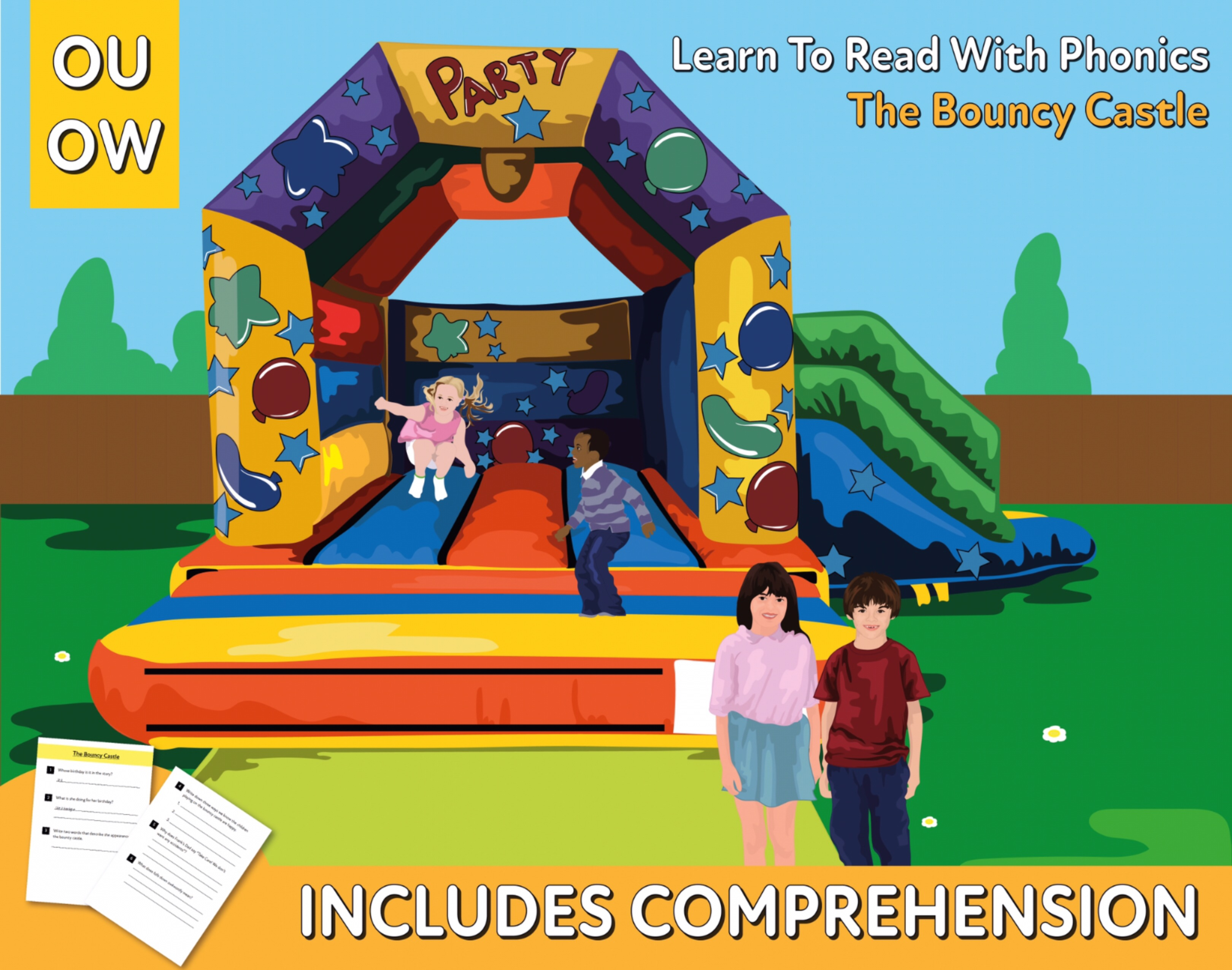 Reading Comprehension 'The Bouncy Castle' (4-8 years)