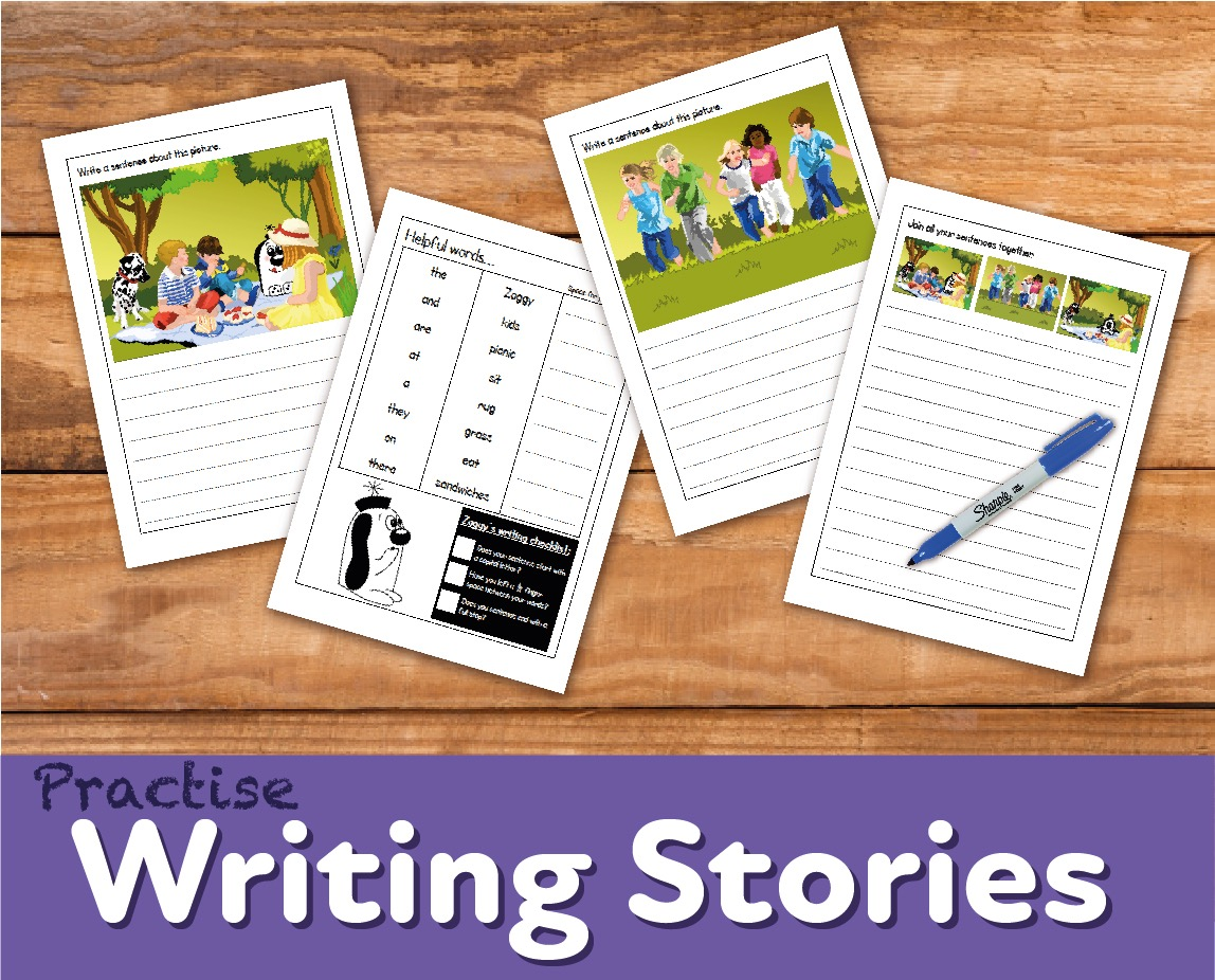 Practise Writing Stories 'Zoggy At A Picnic' (4-7 years)