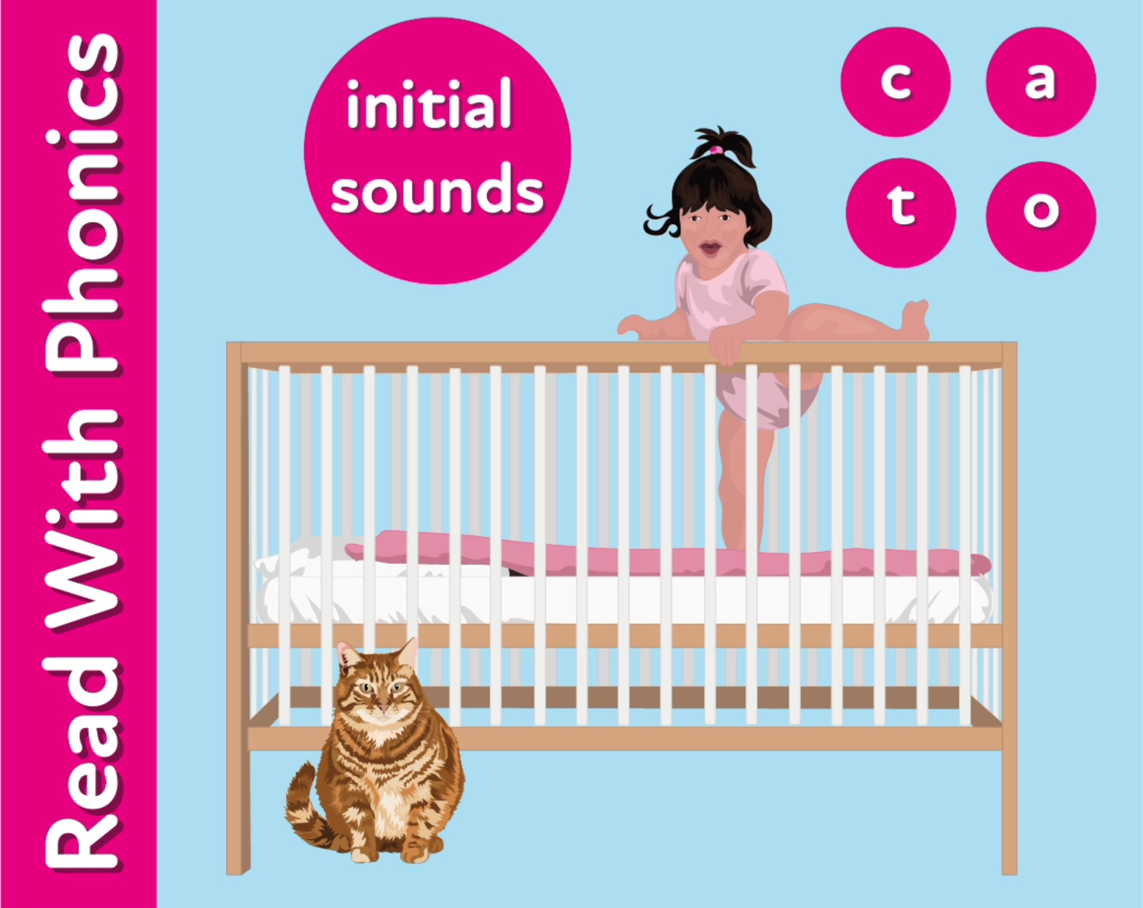 Learn The Initial Phonic Sounds 'c, a, t, o' (3 +)