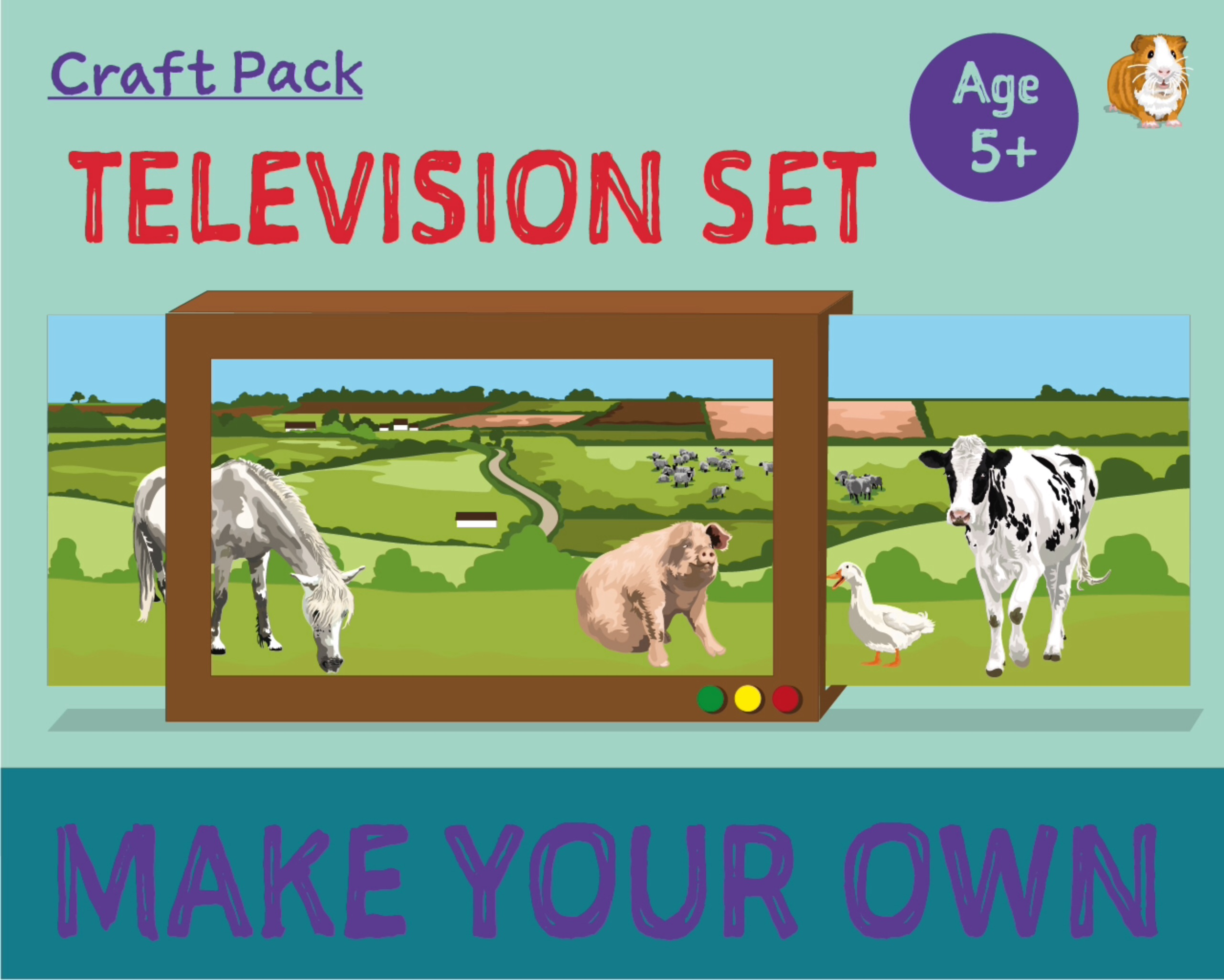Craft Pack: Make A Television Set (4 years +)