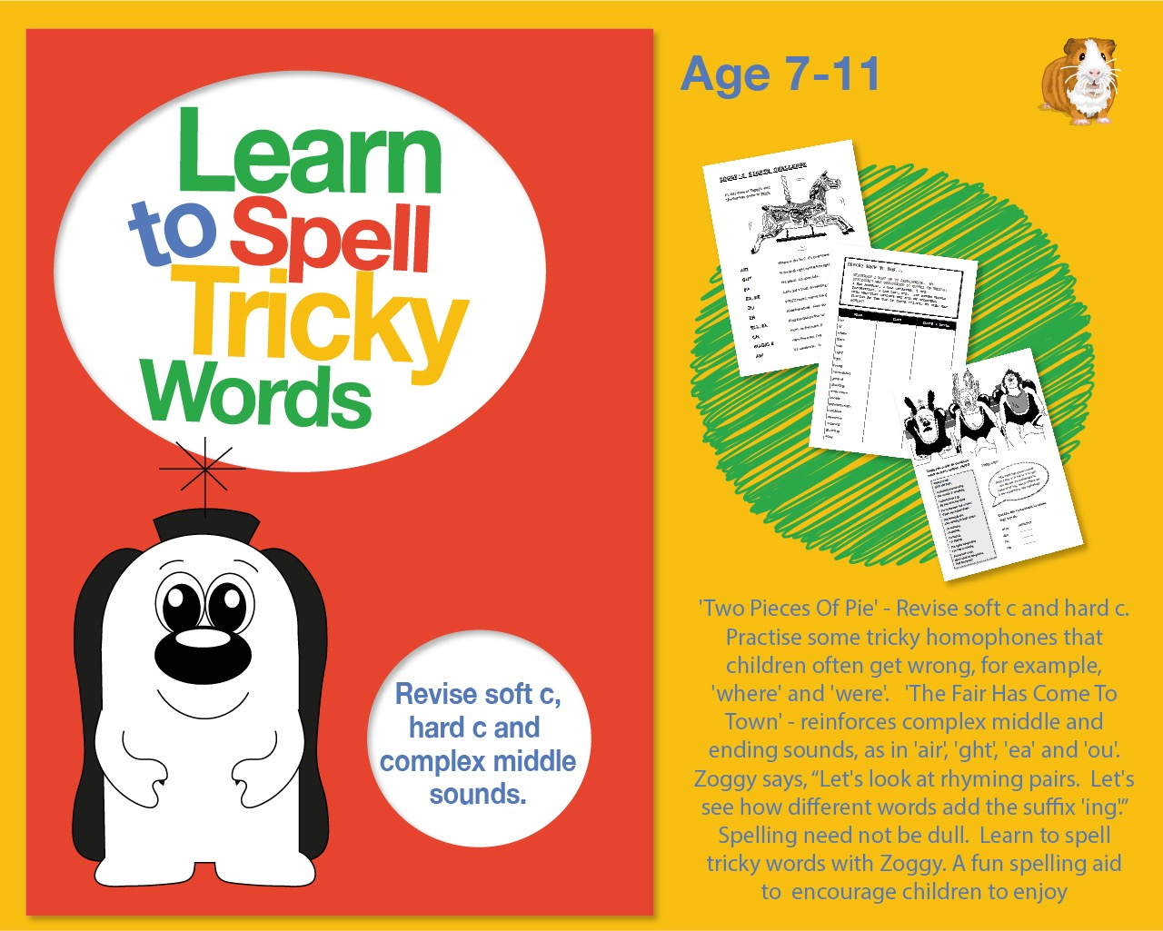 Learn To Spell Words With Tricky Sounds 'ght', 'air', Soft 'c' And Hard 'c (7-11 years)